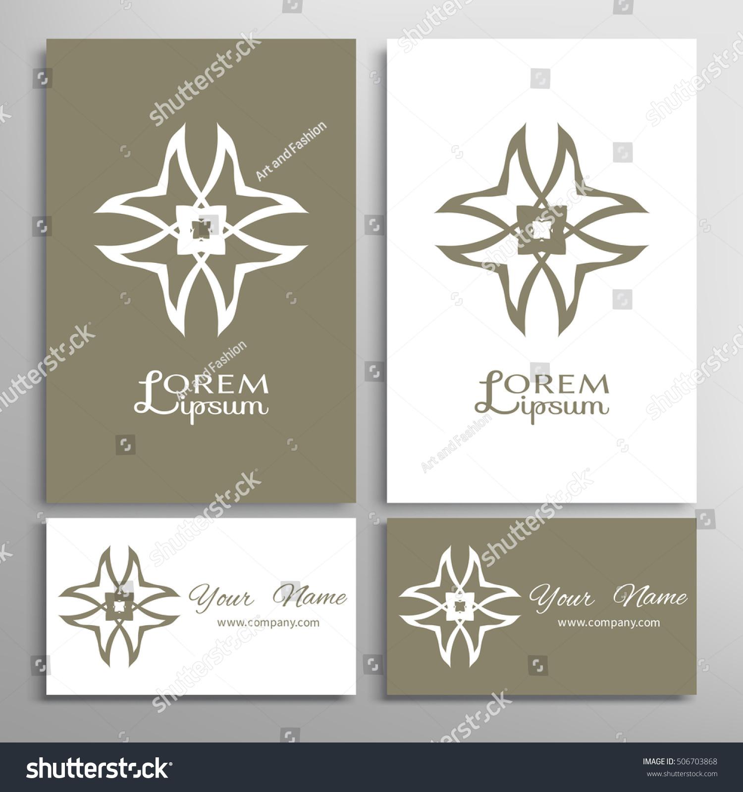 vector geometric design element logo icon stock vector
