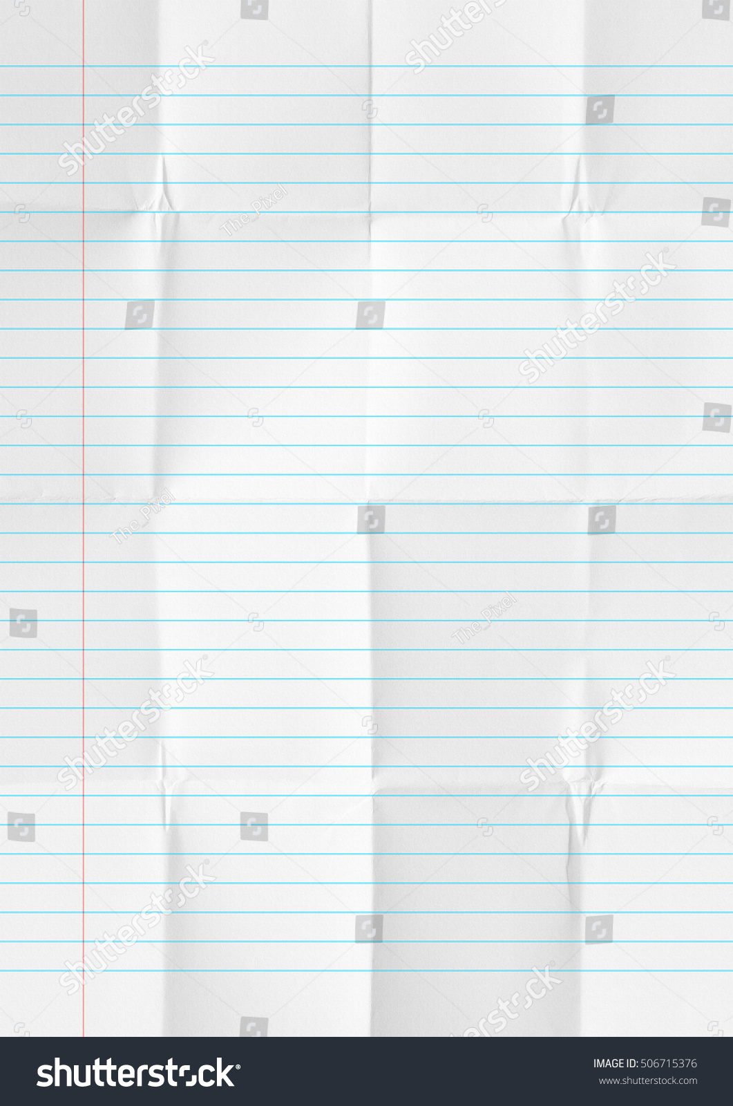 White Crumpled Lines Paper School Background  Lines Paper