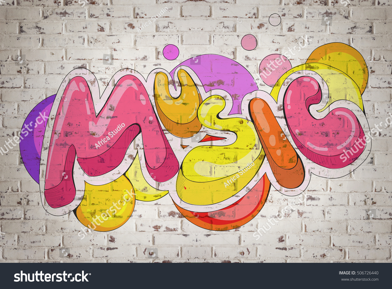 Colorful Word MUSIC On Brick Wall Stock Photo (Edit Now)- Shutterstock