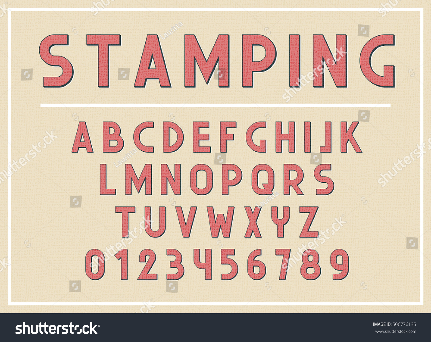 font abc letters print typography vector stock vector 506776135