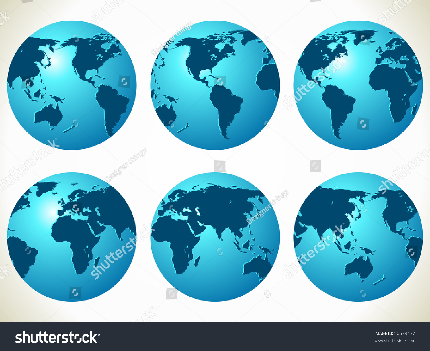 World Maps Vector Illustration Different Part Stock Vector