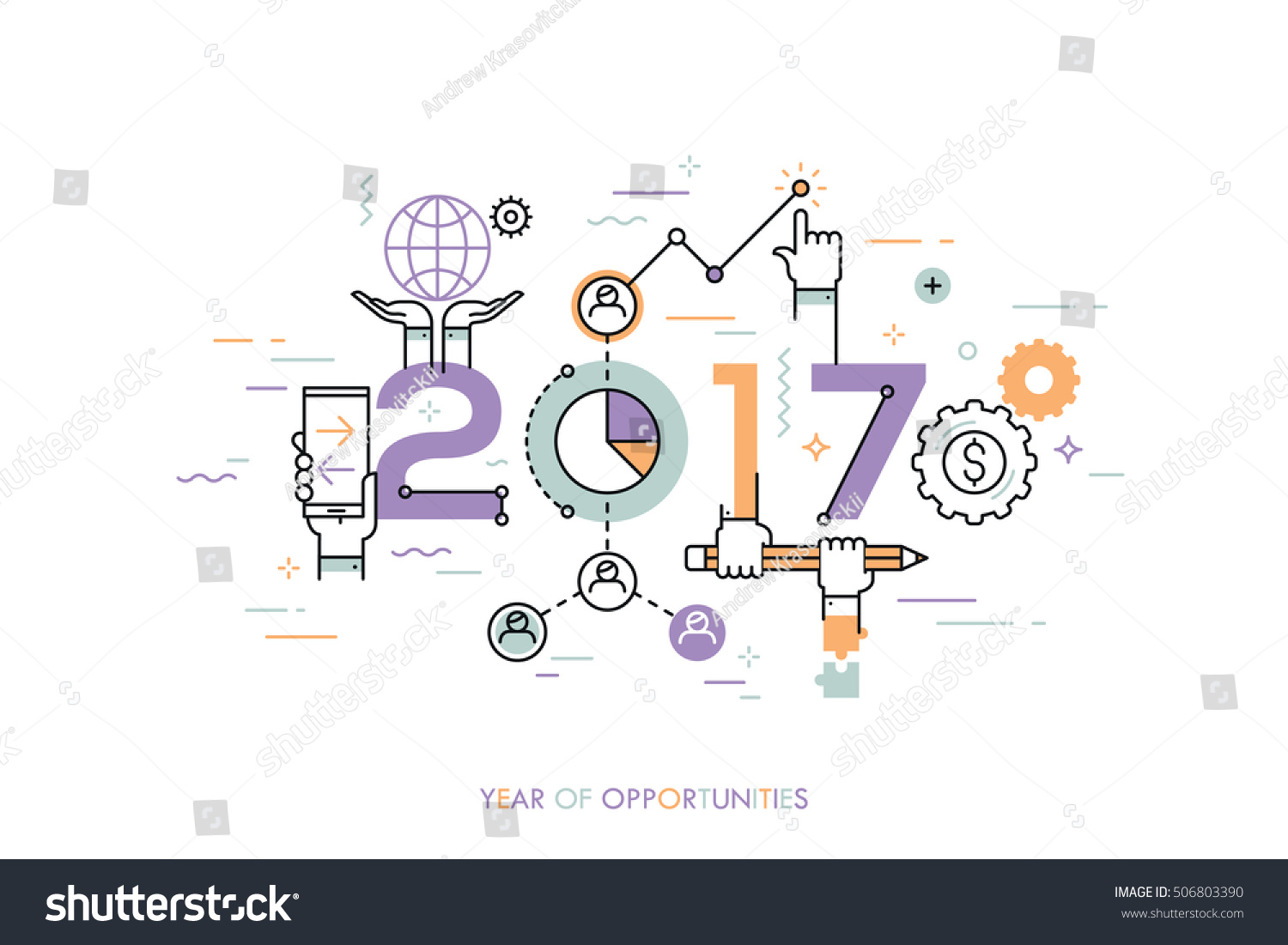 infographic concept year of opportunities new trends and infographic concept 2017 year of opportunities new trends and prospects in global business communication