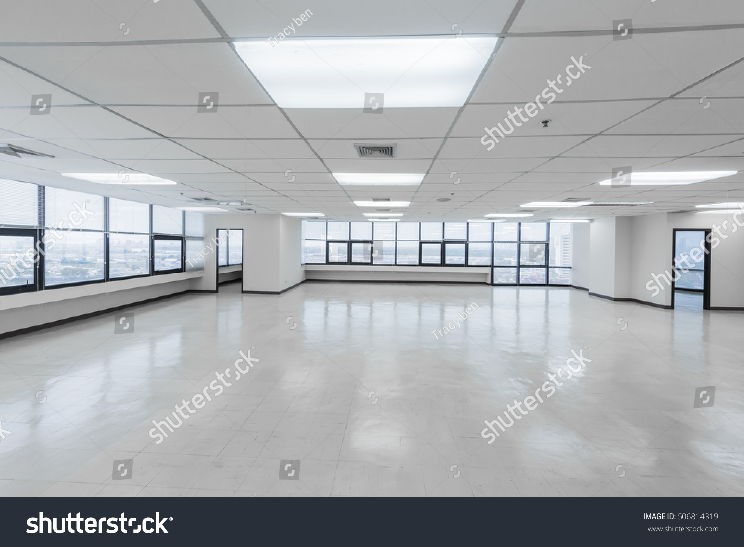 bright office. Empty Bright Office Without Furniture