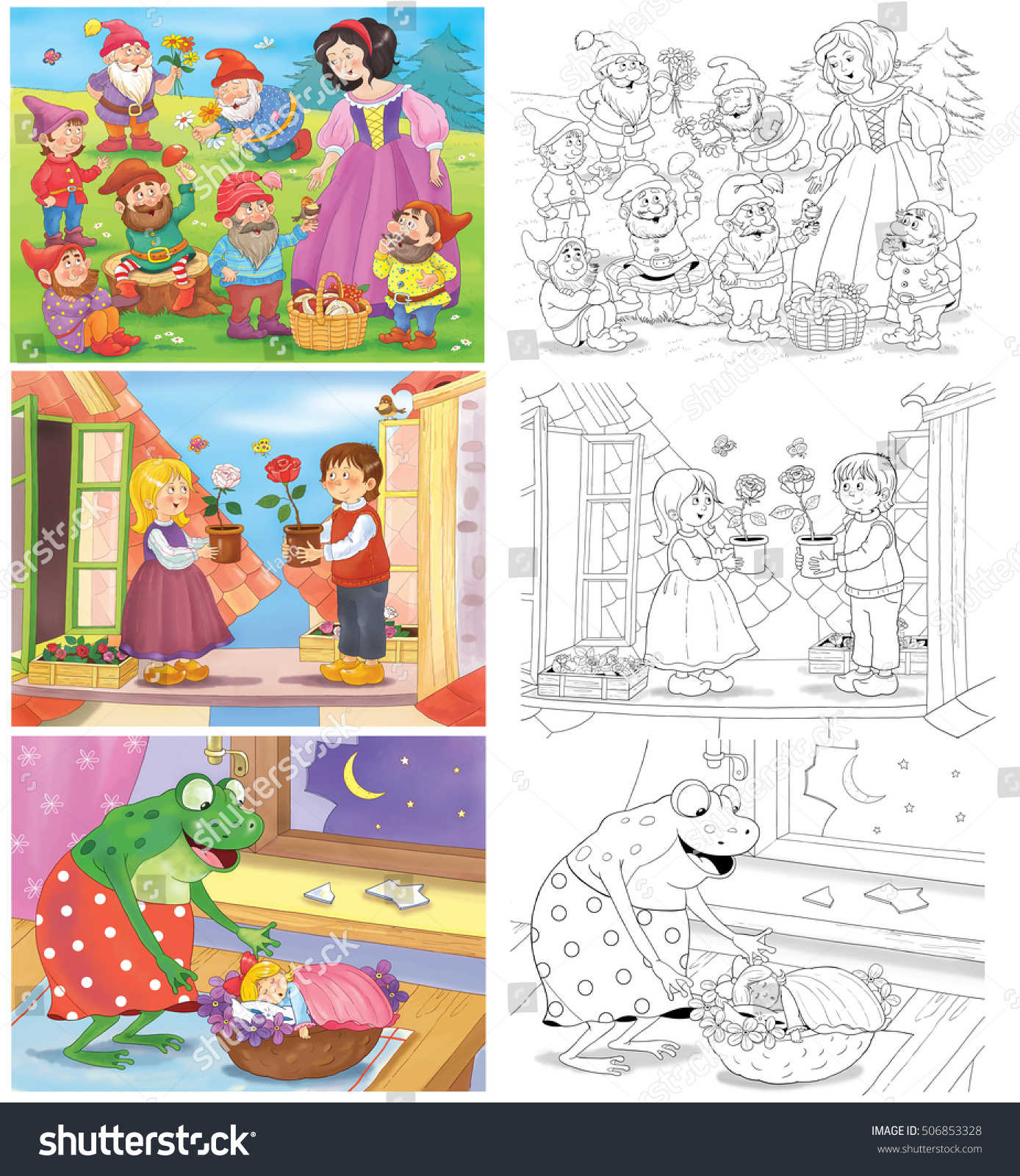 Small Set Fairy Tale Coloring Pages