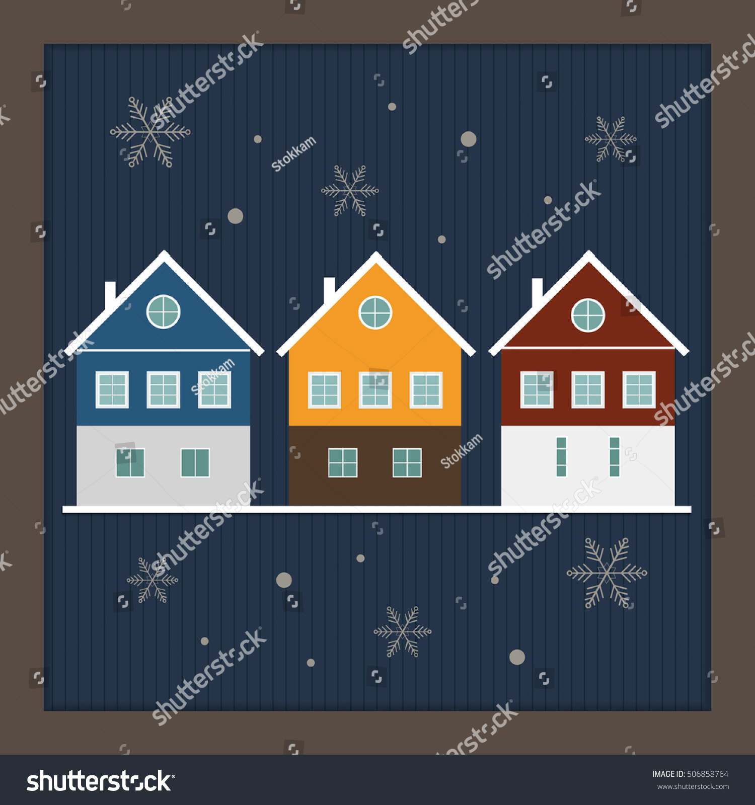 merry christmas and happy new year real estate card
