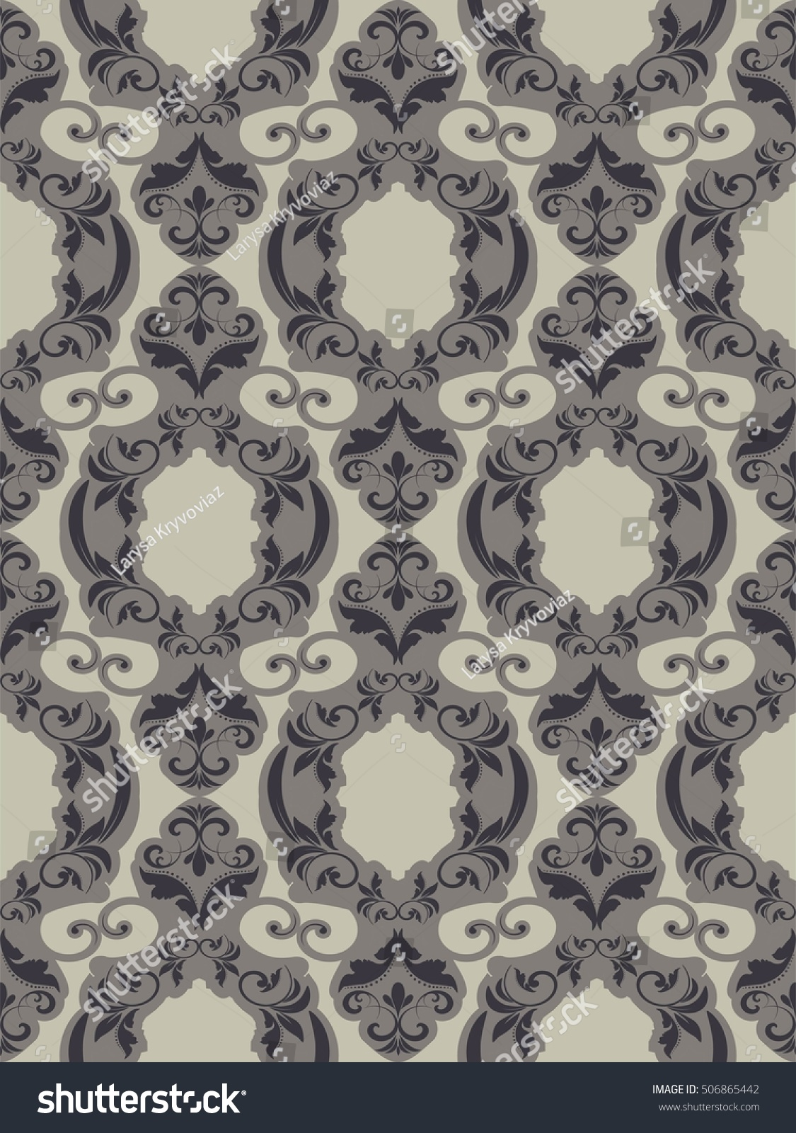 seamless damask pattern endless pattern can stock vector endless pattern can be used for ceramic