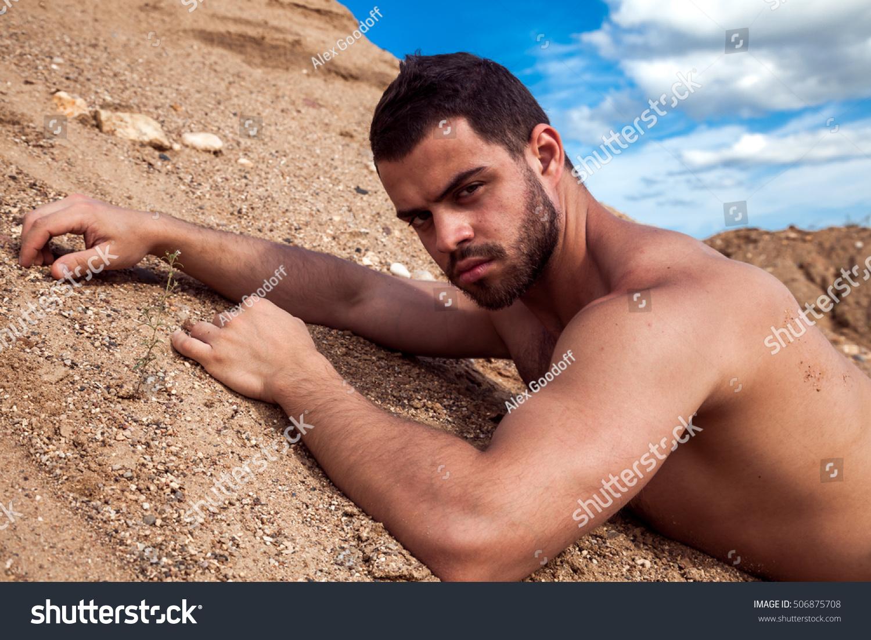 Bearded Cute Guy Sunbathing On Beach Stock Photo Edit Now 506875708