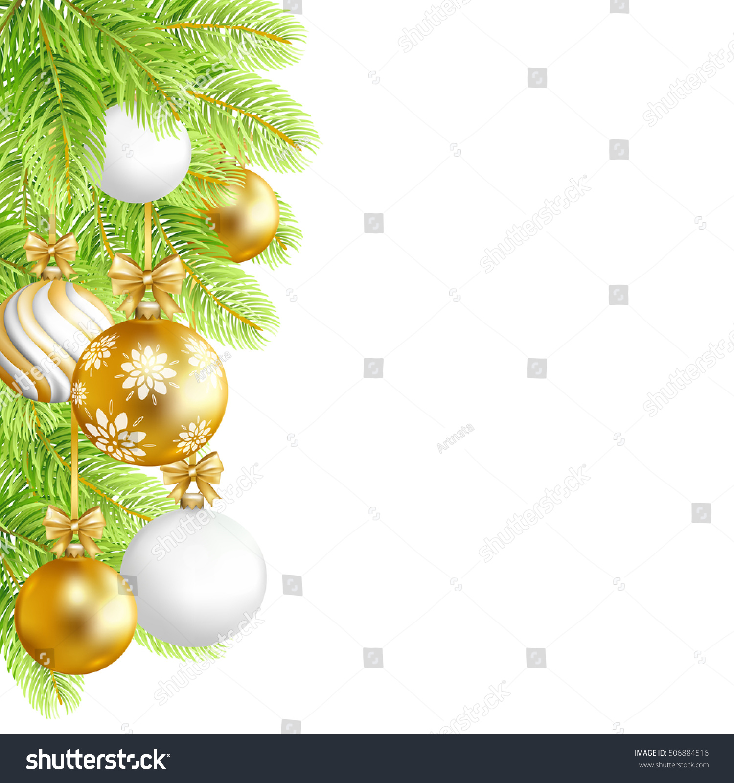 Merry Christmas Green Background Gold White Stock Vector (Royalty ...