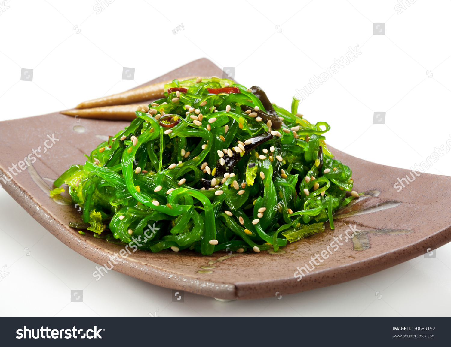 Japanese Cuisine - Chuka Seaweed Salad. Served with Nuts Sauce and ...