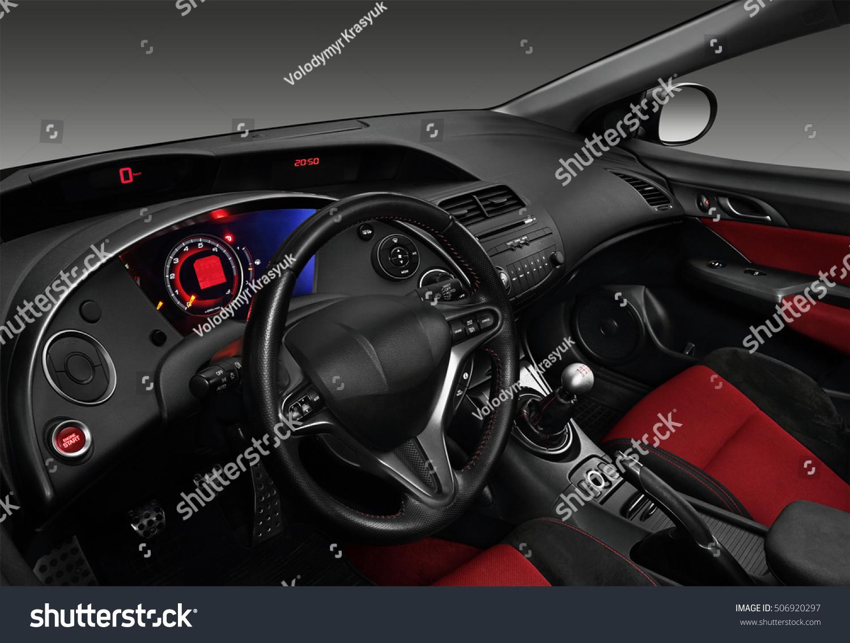 Interior Modern Automobile Showing Dashboard Stock Photo 506920297 ...