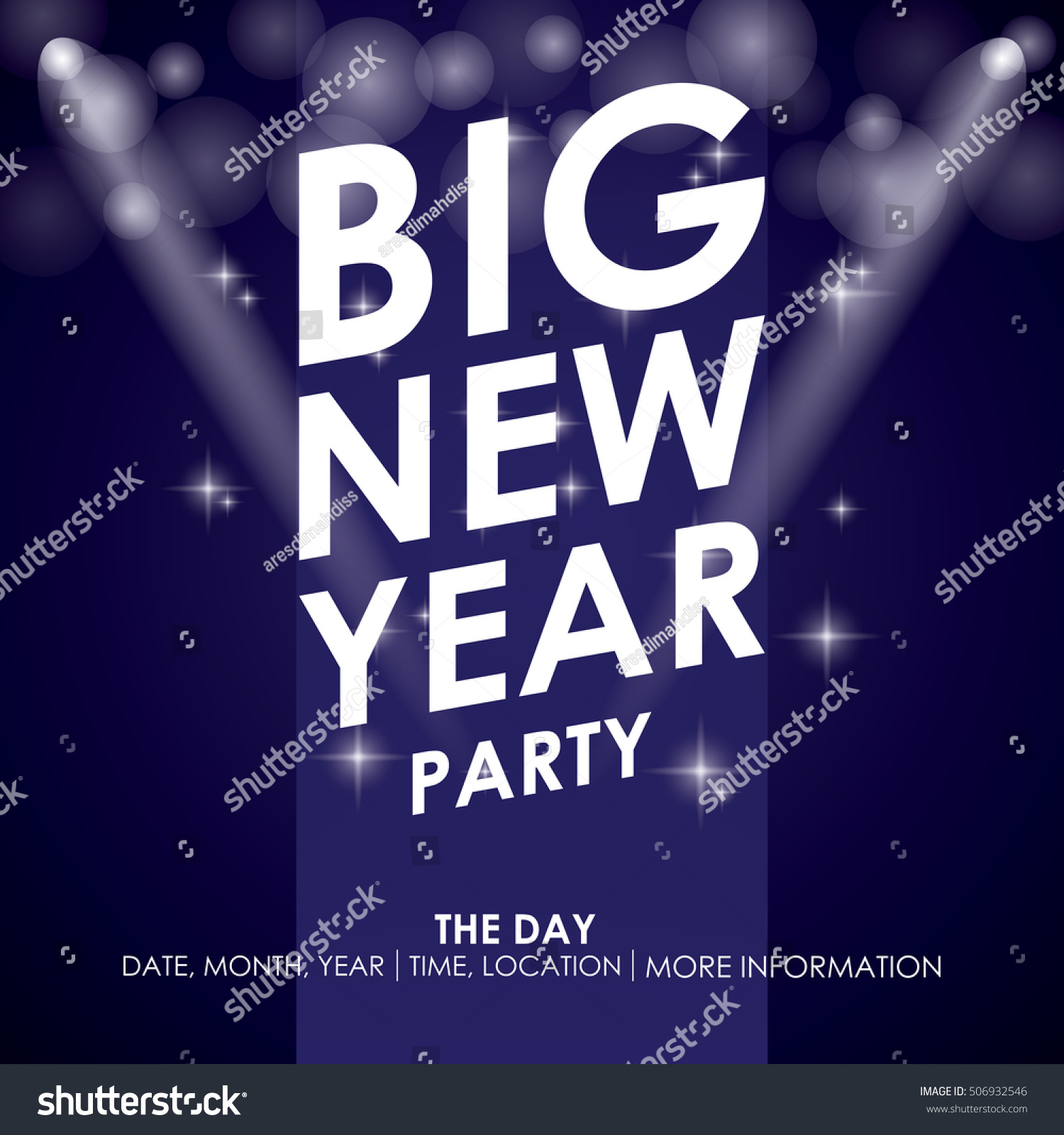 new year party poster template stock vector illustration 506932546 shutterstock