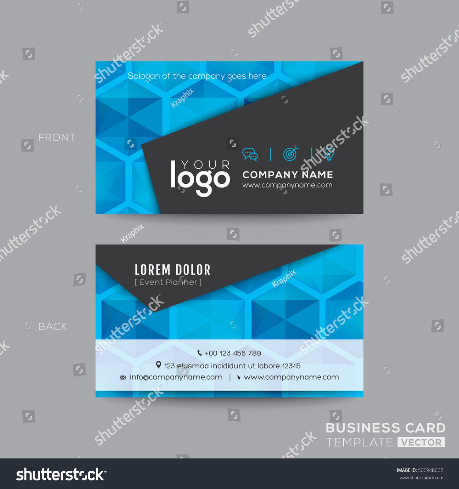 Black Blue Modern Business Card Design Stock Vector 506948662 ...