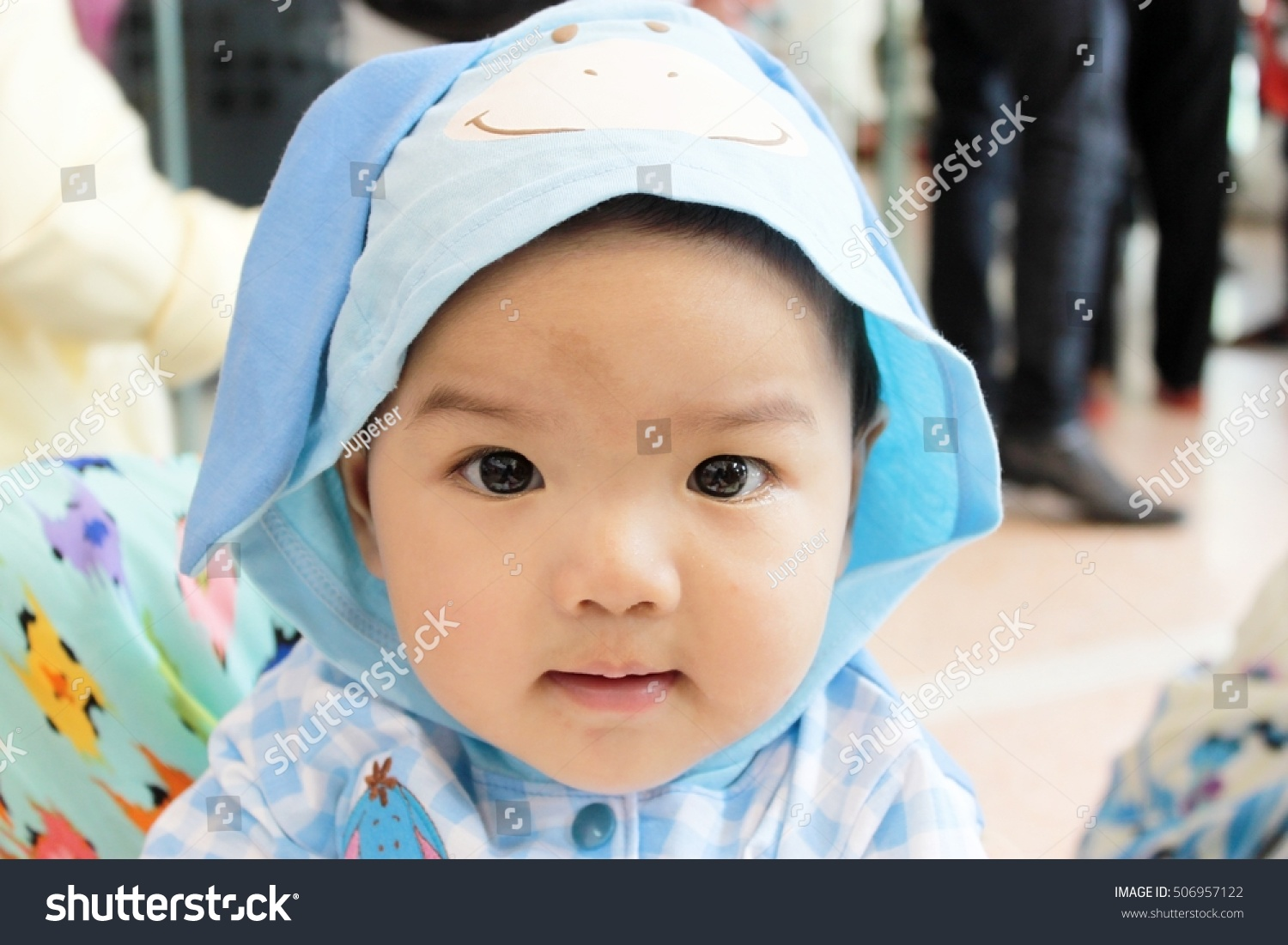 cute kids big round black eyes stock photo & image (royalty-free