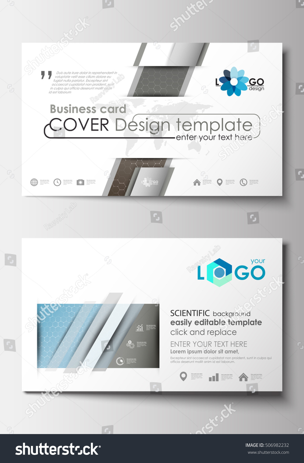 Business Card Templates Cover Template Easy Stock Vector 506982232 ...