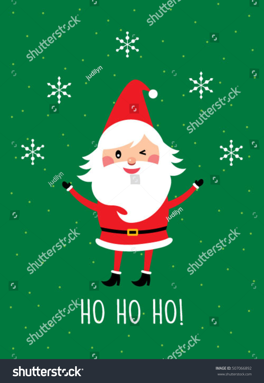 Ho Ho Ho Santa Claus Greeting Card Vector Ez Canvas