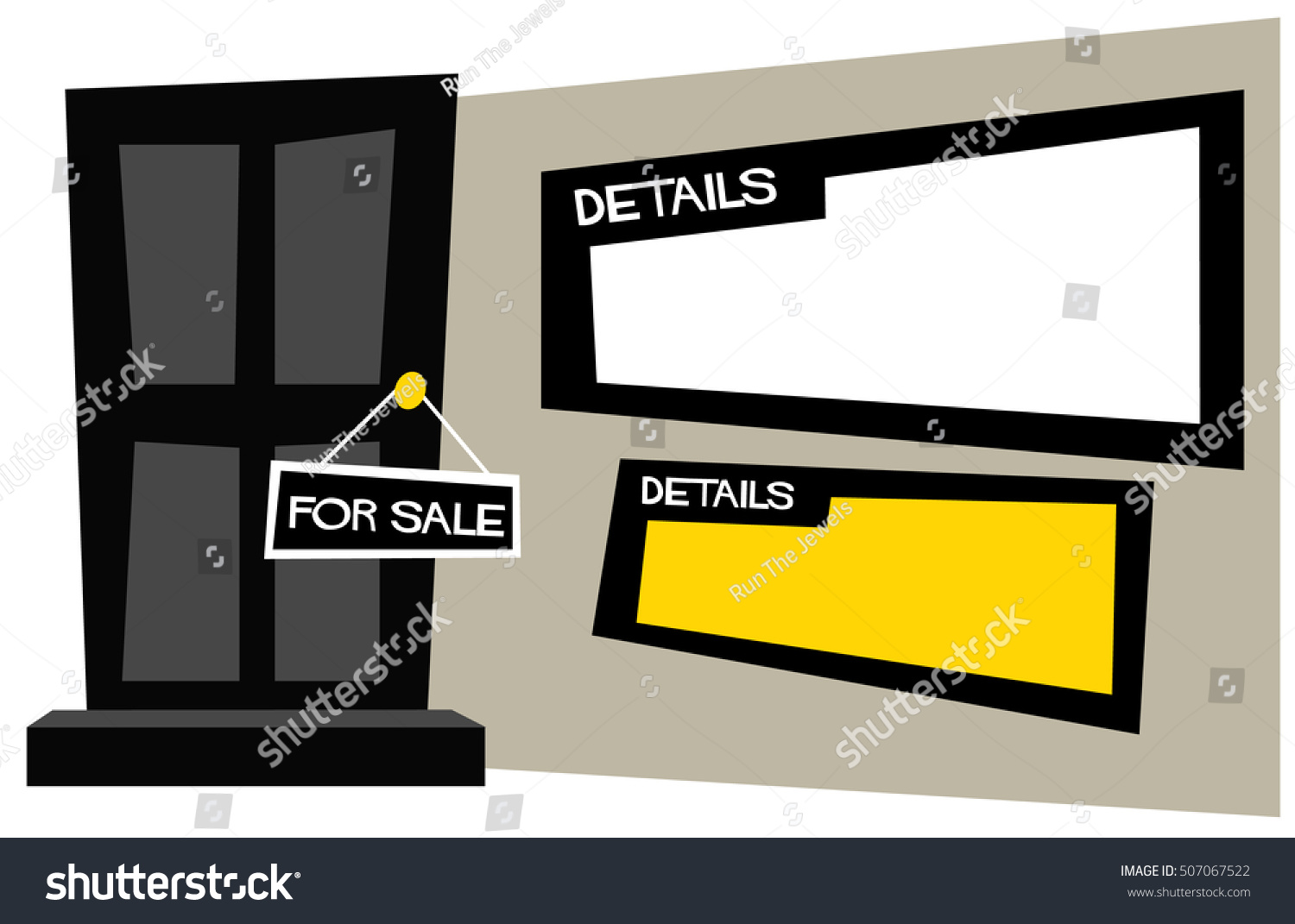 Apartment House Sale Sign Hanging On Stock Vector 507067522 ... on icon house, chart house, label house,