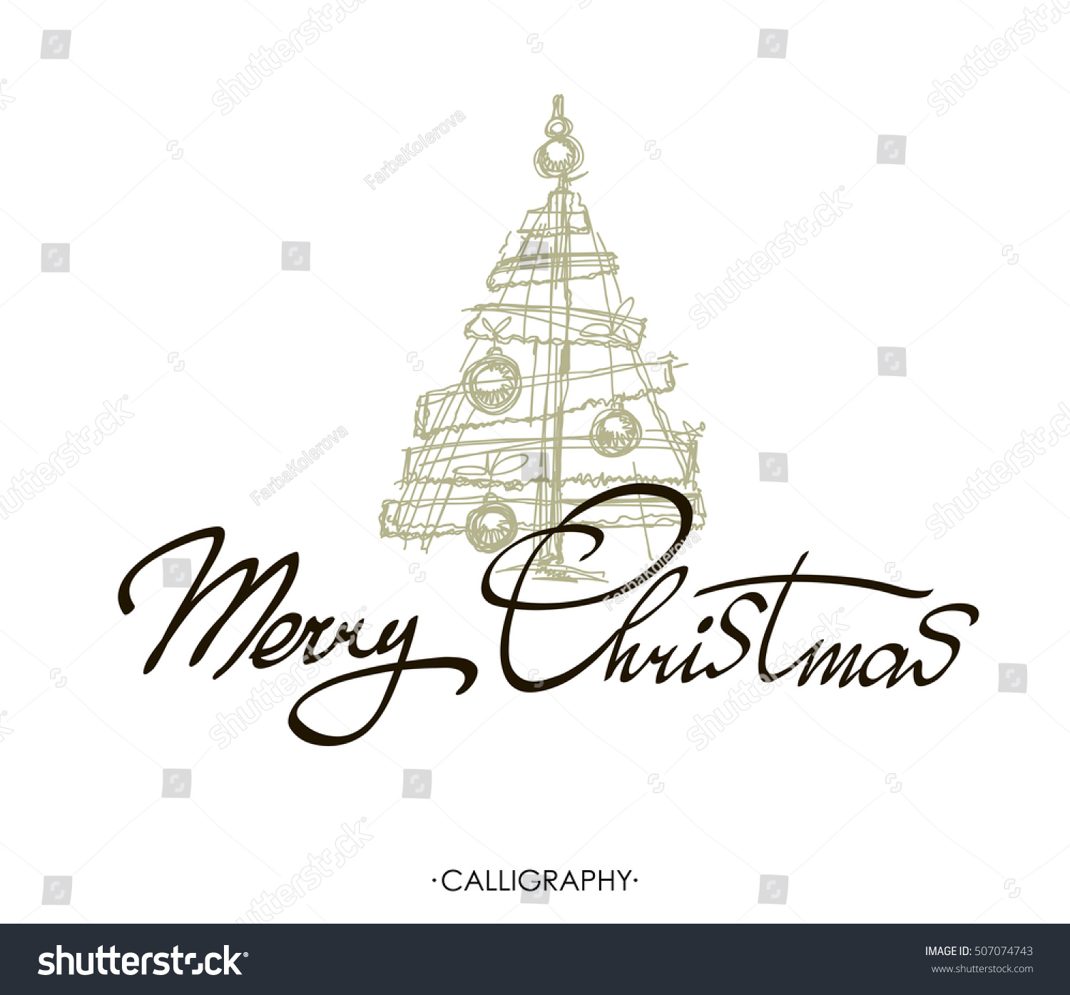 Merry christmas greeting card calligraphy merry stock vector merry christmas greeting card with calligraphy merry christmas text design vector logo typography kristyandbryce Image collections