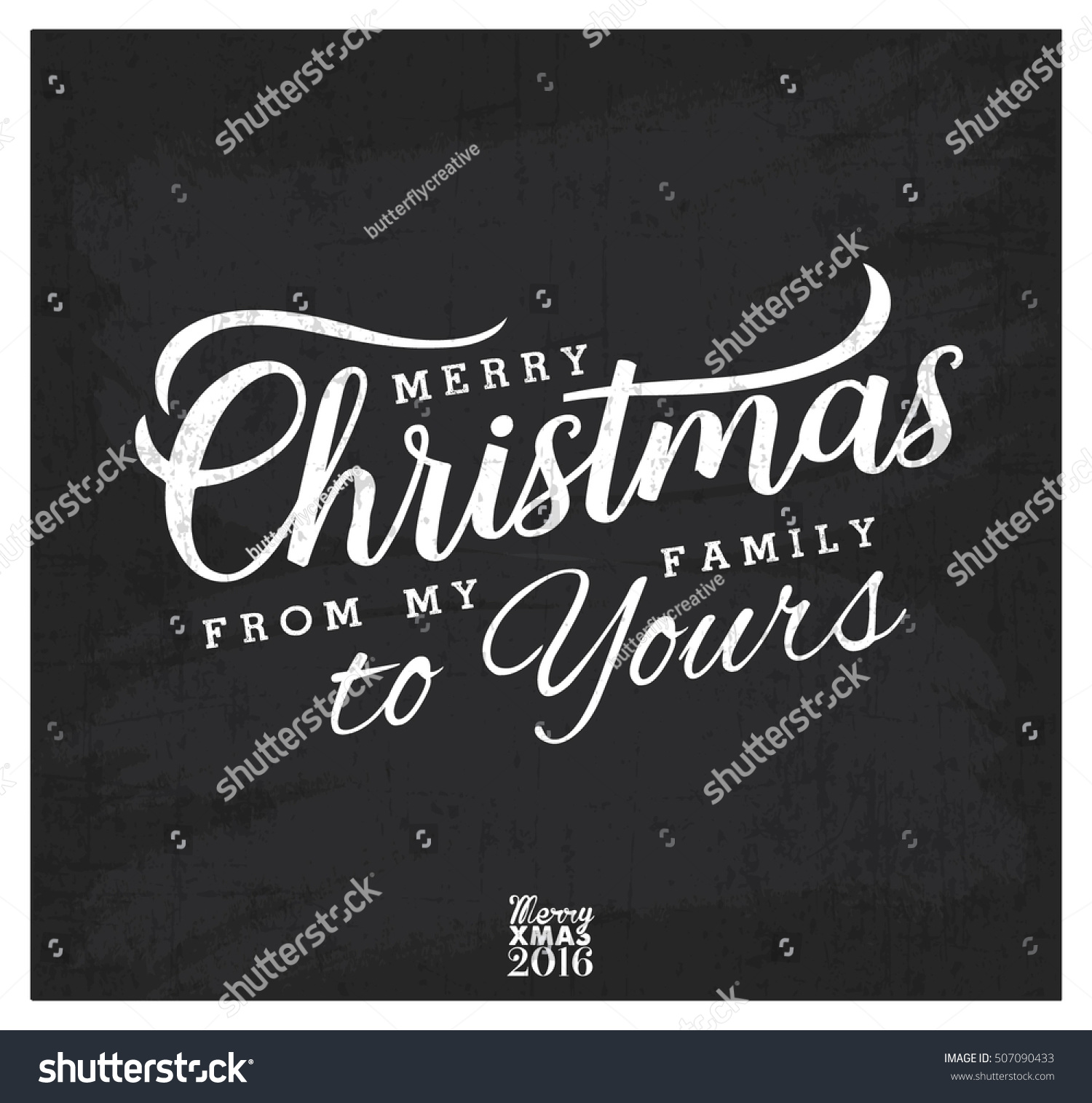 Merry Christmas My Family Yours Design Stock Vector (Royalty Free ...