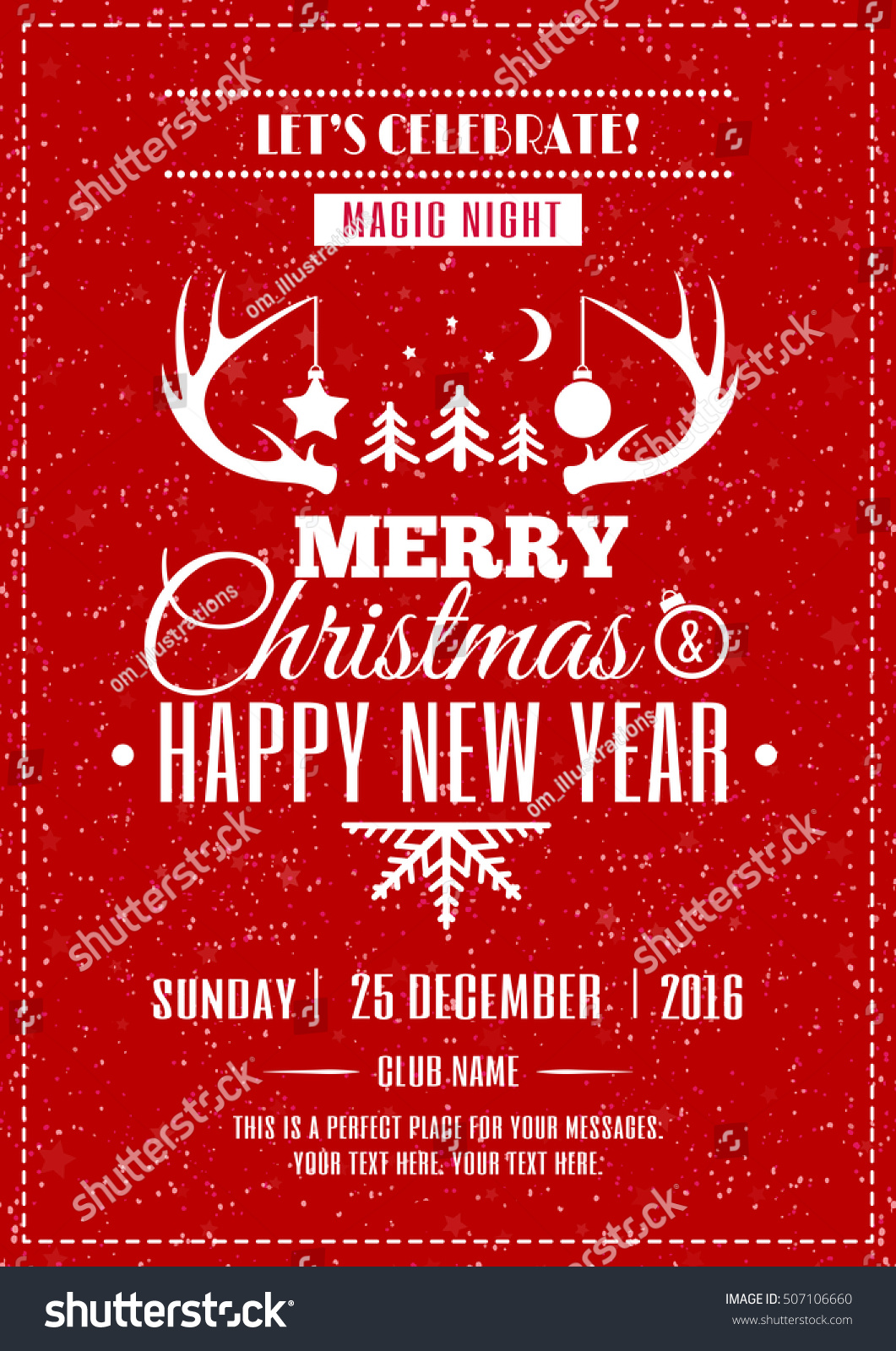 merry christmas poster wishes merry x mas stock vector (royalty free