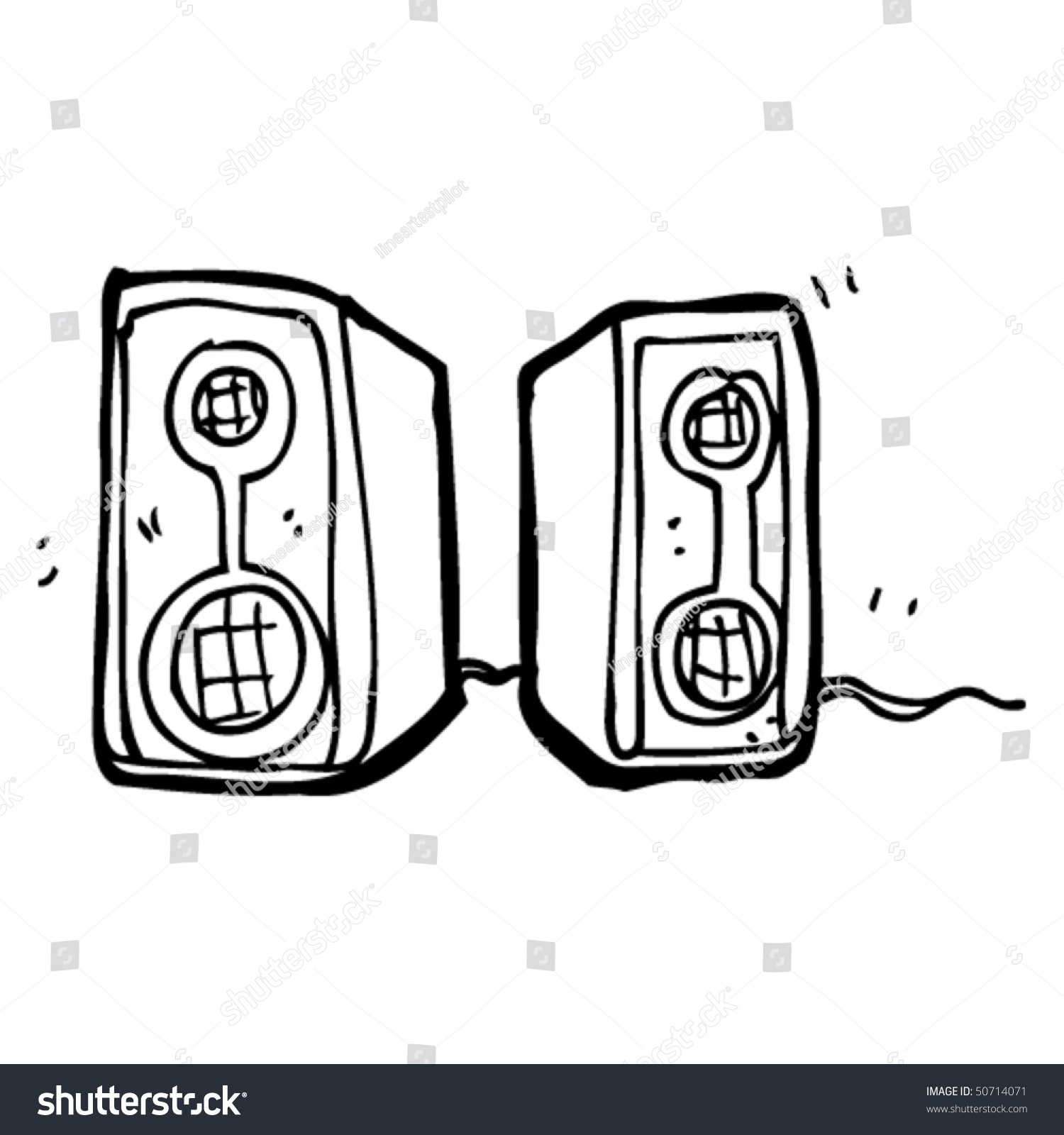 quirky drawing speakers stock vector 50714071 shutterstock