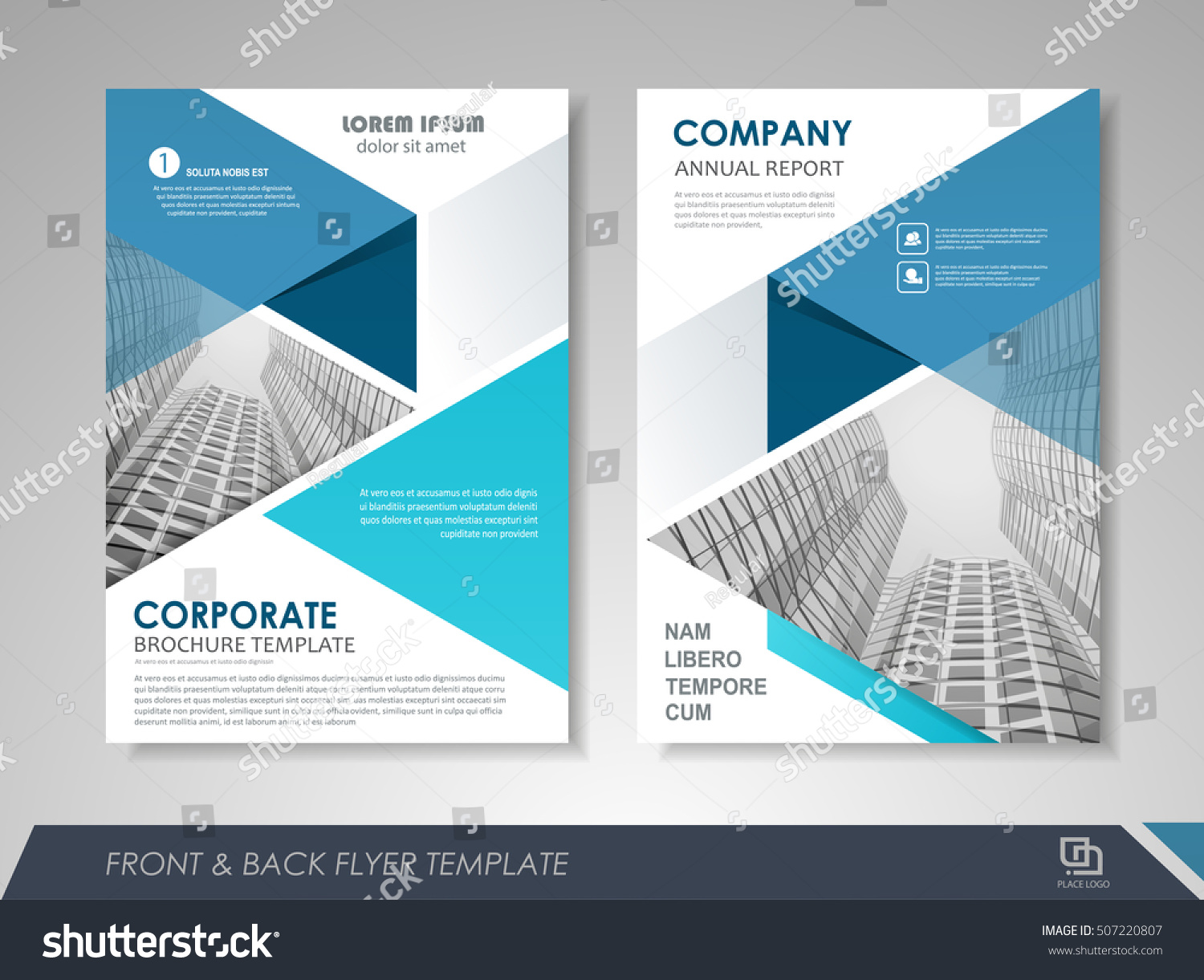 front back page annual report brochure stock vector royalty free