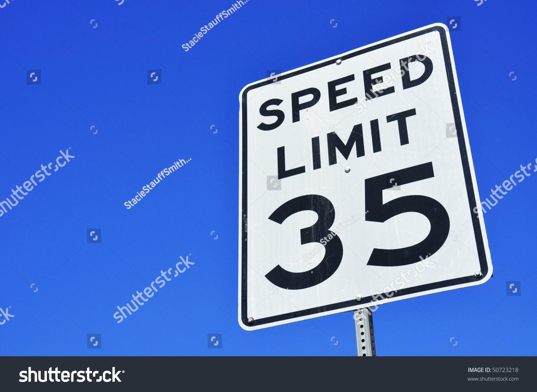 35 Miles Per Hour Sign Radar Stock Photo 50723218 - Shutterstock