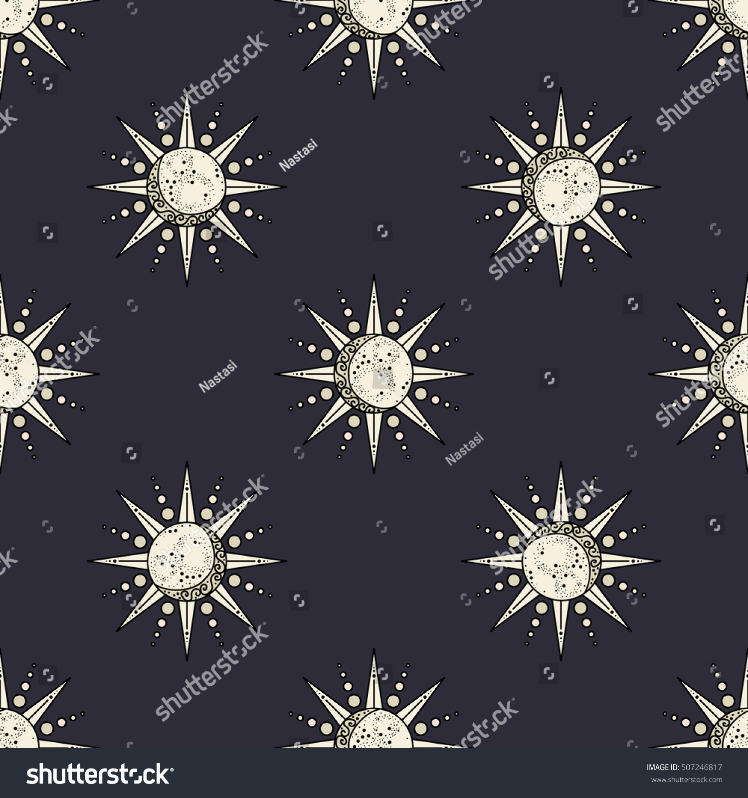 Sun moon symbol sun moon pattern stock vector 507246817 shutterstock sun and moon symbol sun and moon pattern sun and moon background sun biocorpaavc Images
