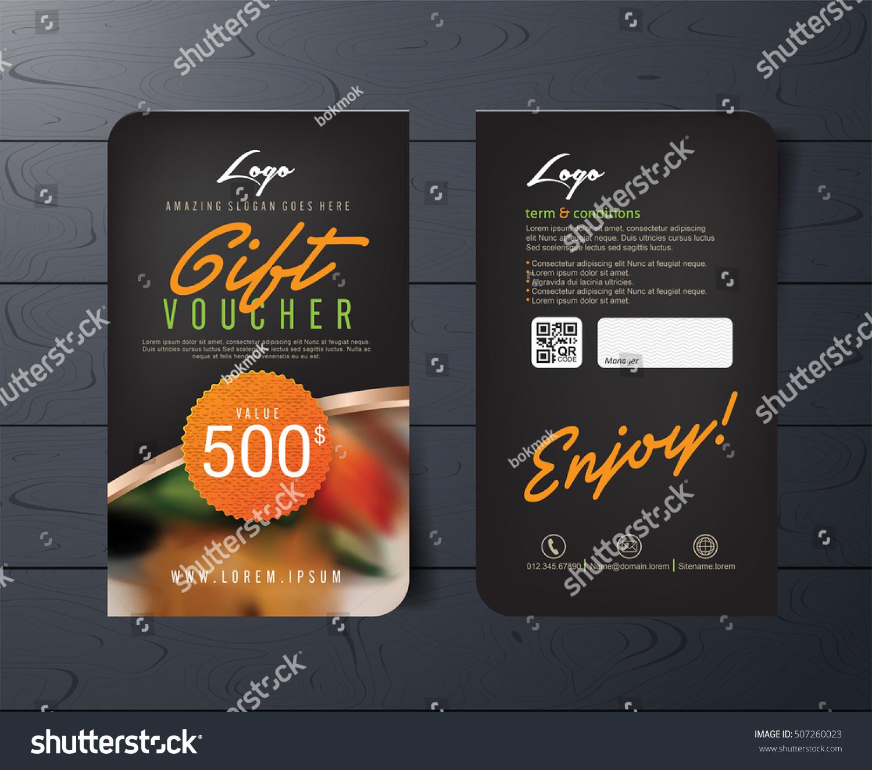 Gift Voucher Template Premium Pattern Place Stock Vector 507260023 ...