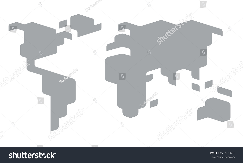 Resultado de imagen de world map simplified
