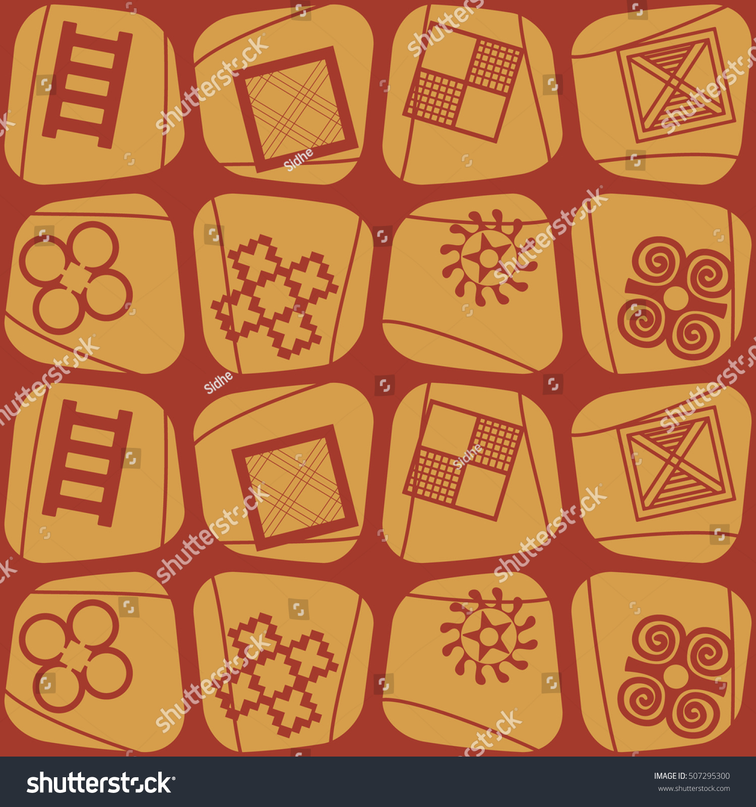 Seamless pattern adinkra symbols your design stock vector seamless pattern with adinkra symbols for your design biocorpaavc Images
