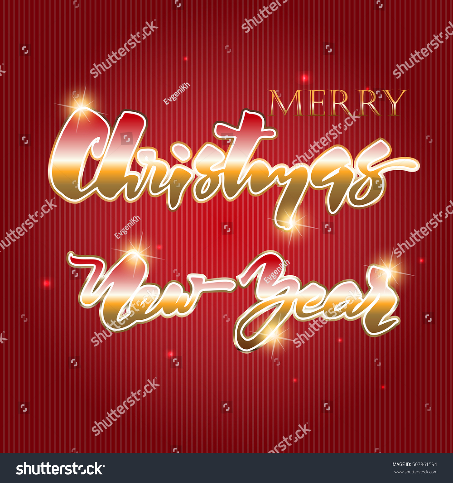 Merry Christmas Vector Text Xmas Greeting Stock Vector (Royalty Free ...