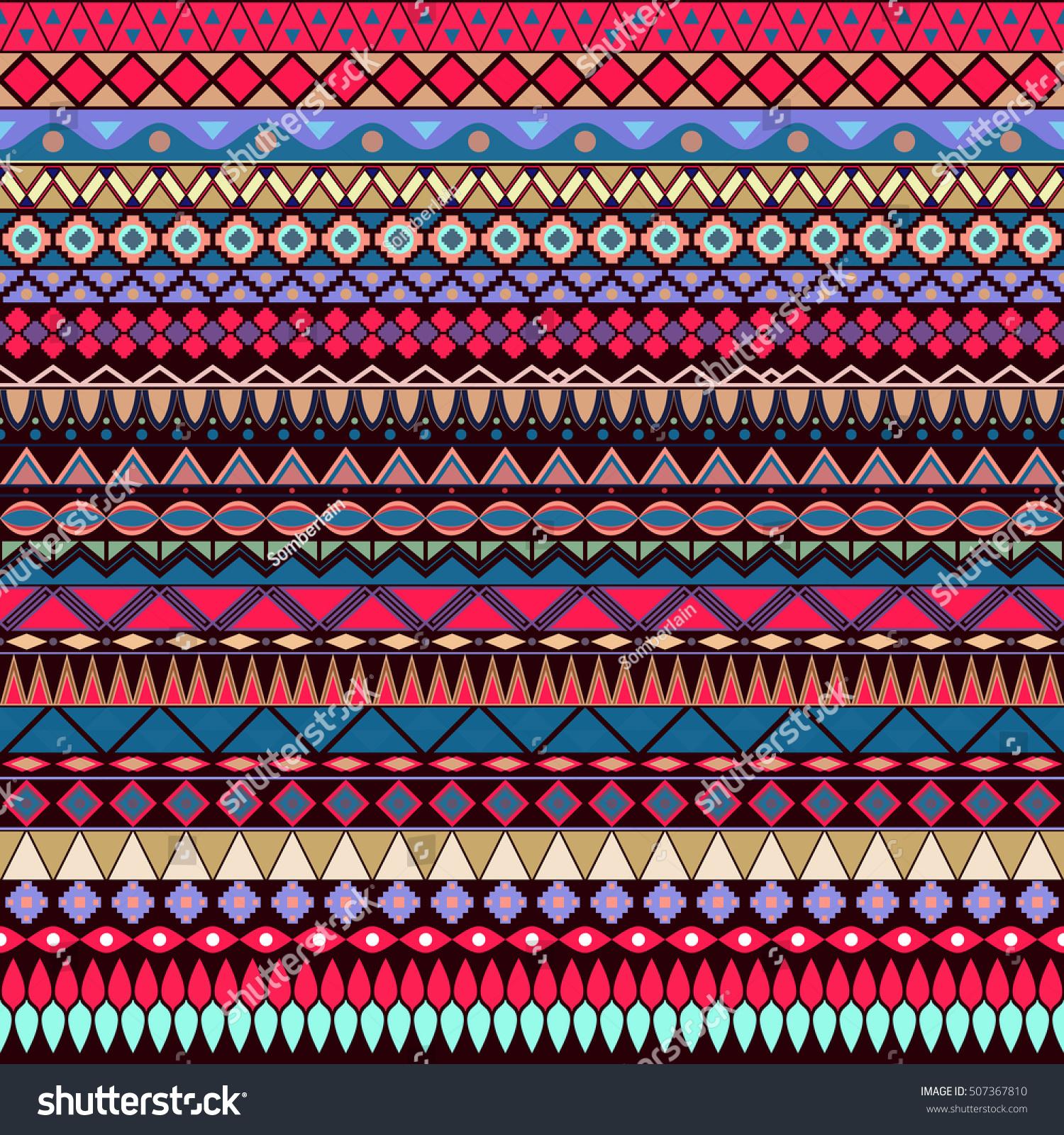 Colorful Tribal Print Wallpaper
