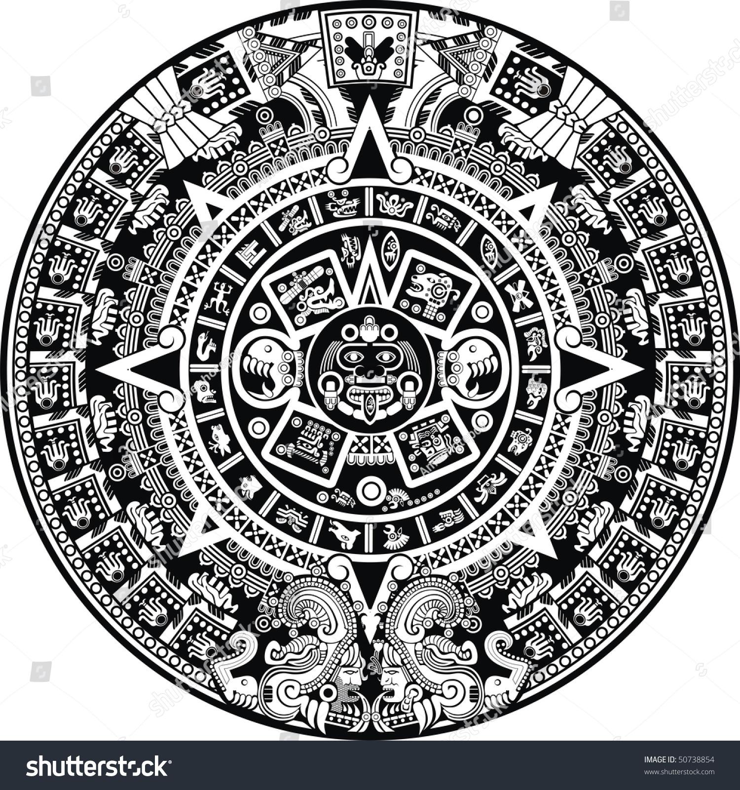Calendar Vector : Aztec calendar stock vector shutterstock