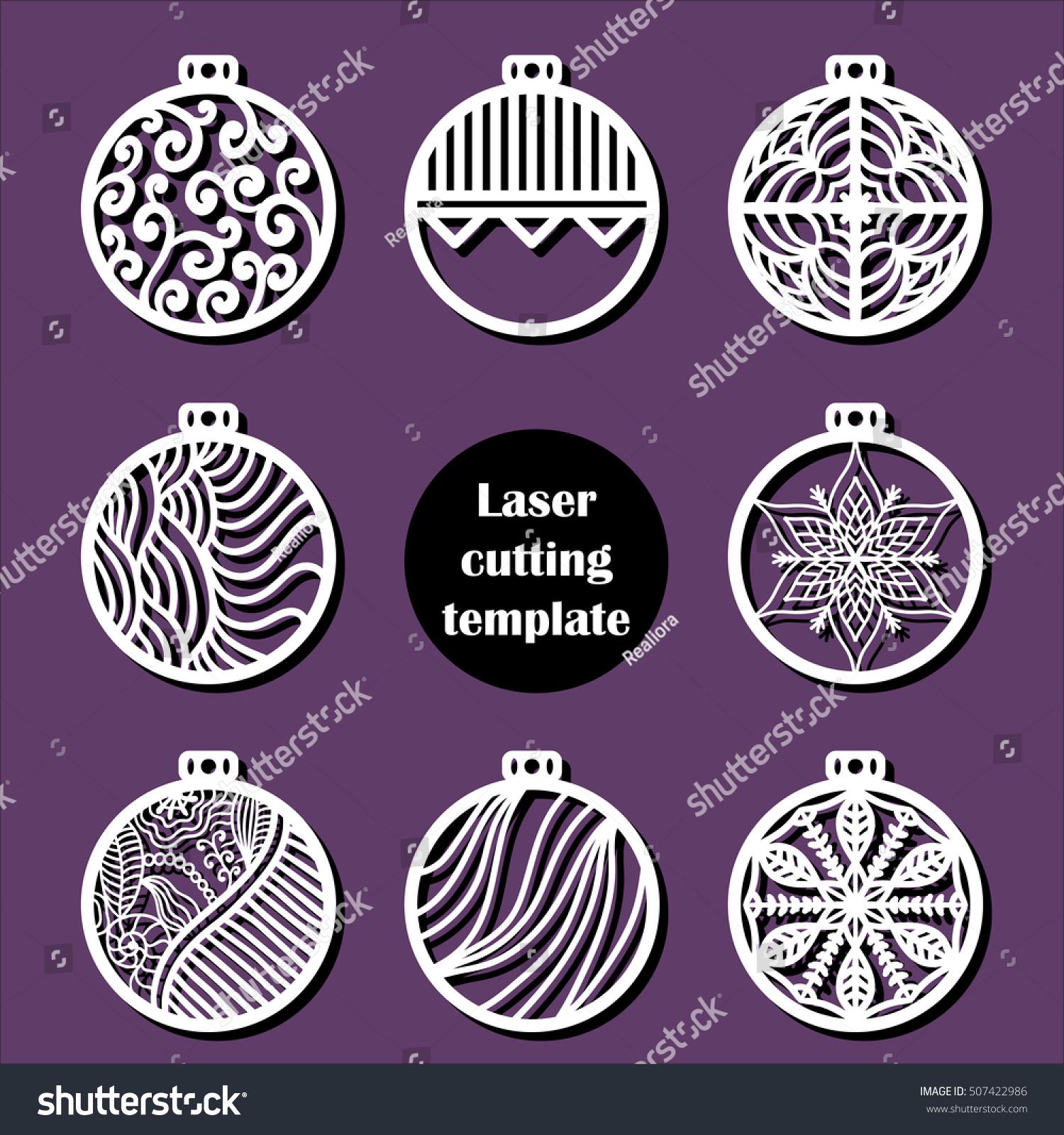 Laser Cut Christmas Decoration Vector Design Stock Vector Hd