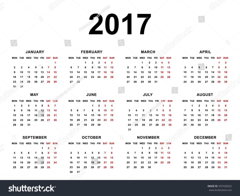 Calendar Background Vector : Calendar vector illustration on white stock