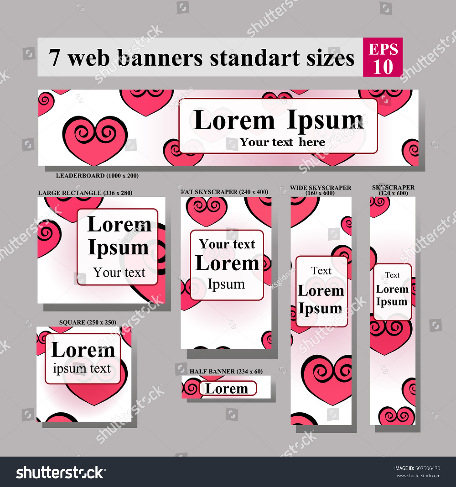 Dating Website Template Valentines Day Vector Stock Vector Royalty