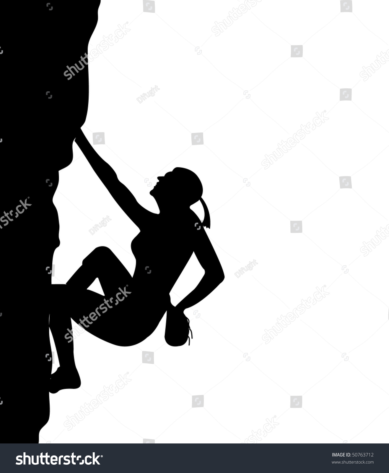 Women Climb On Rock Stock Vector 50763712 - Shutterstock