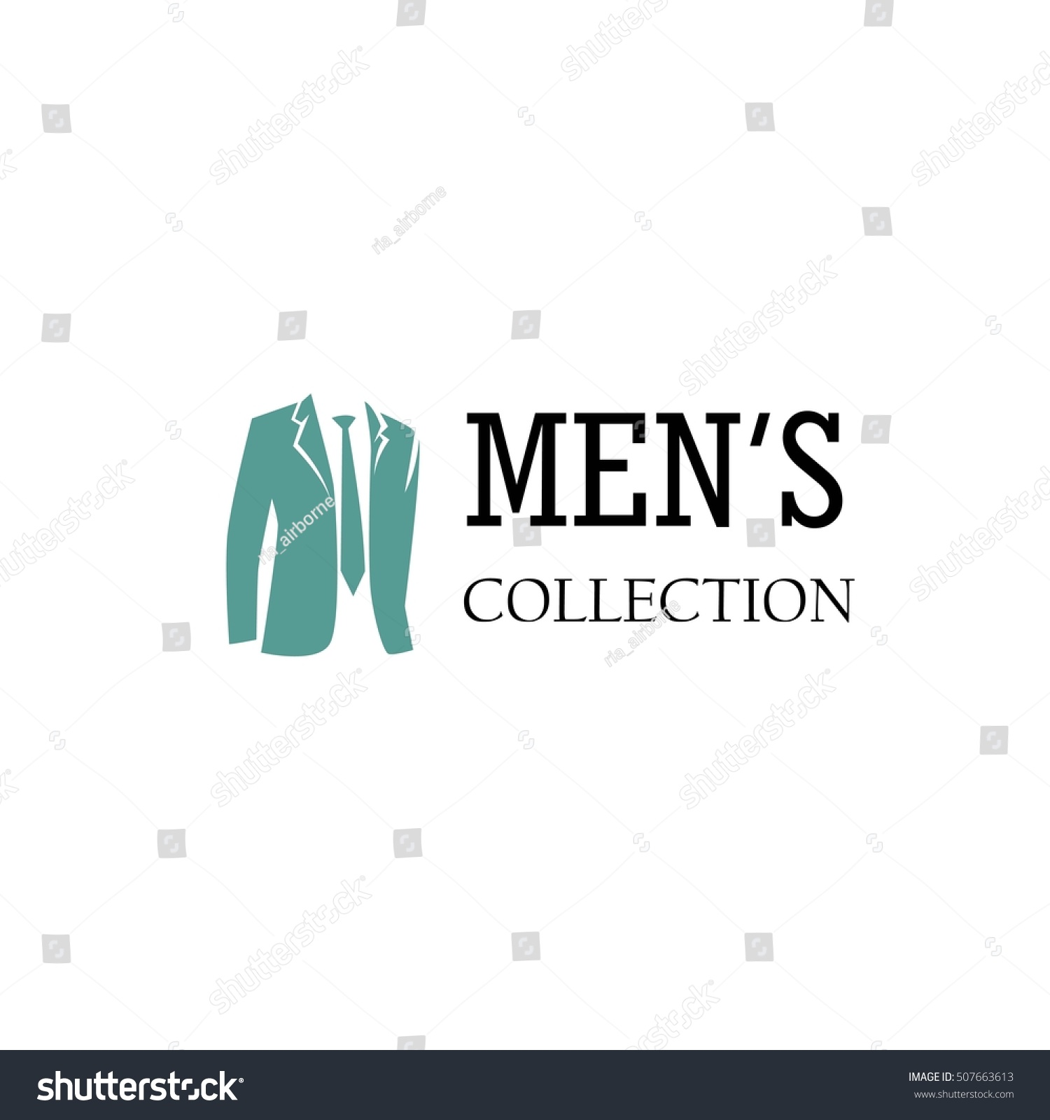 men fashion logo design template stock vector 507663613