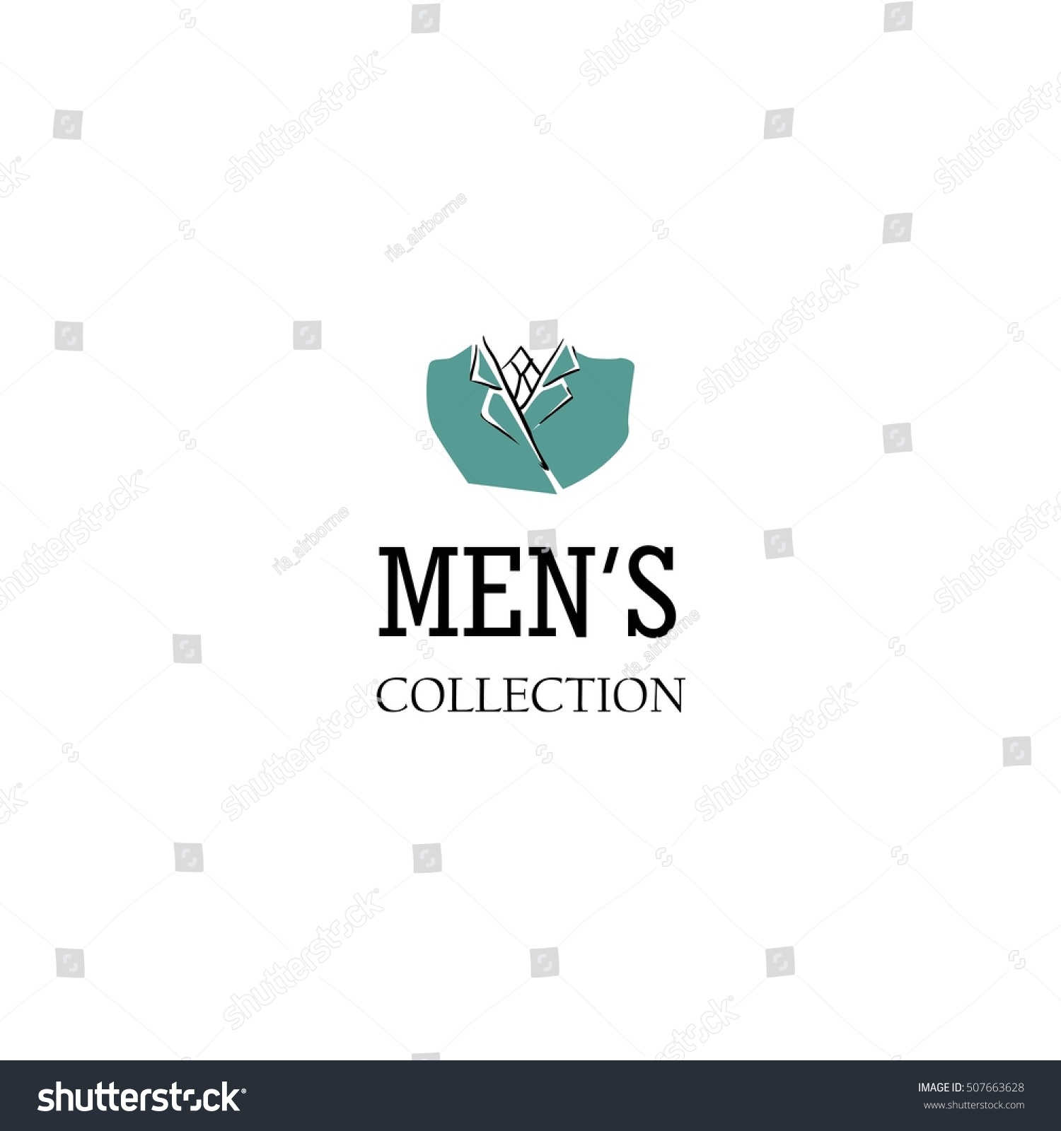 men fashion logo design template stock vector 507663628
