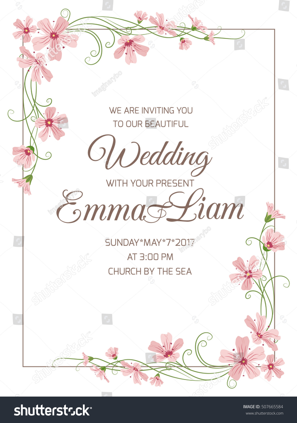 Corner designs for wedding cards