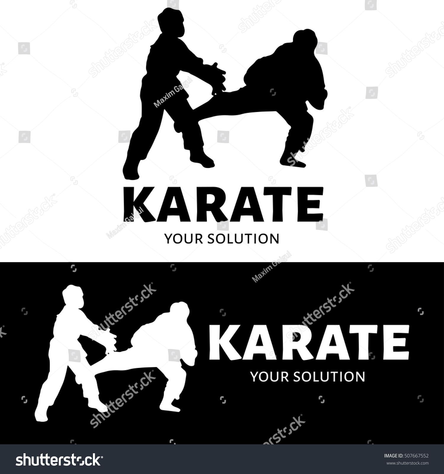 Karate Vector Logo Brands Logo Form Stock Vector 507667552 ...