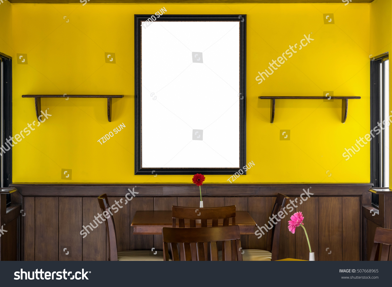 Luxury Restaurant Set Yellow Color Wall Stock Photo (Edit Now ...