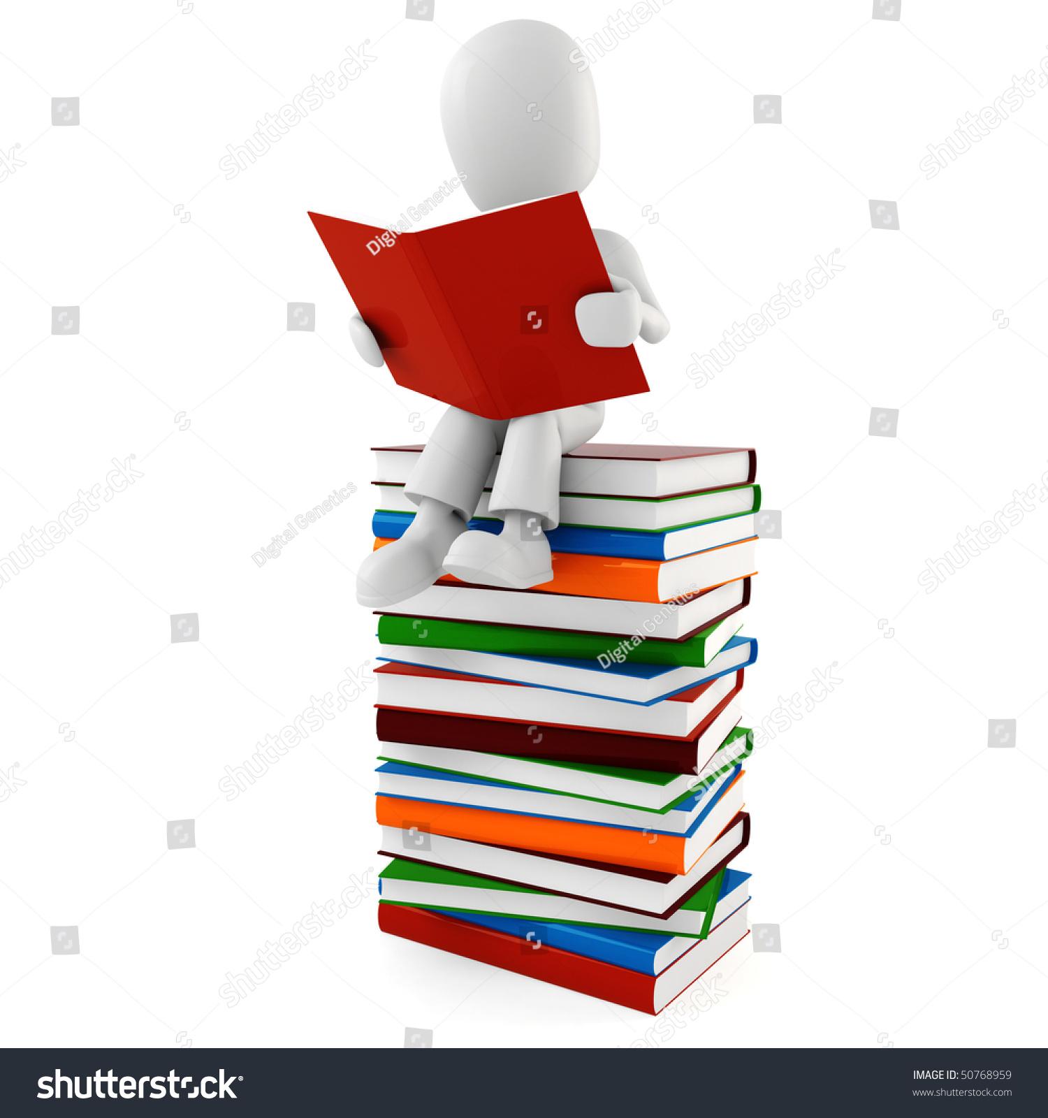 3d Man Reading A Book Stock Photo 50768959 : Shutterstock
