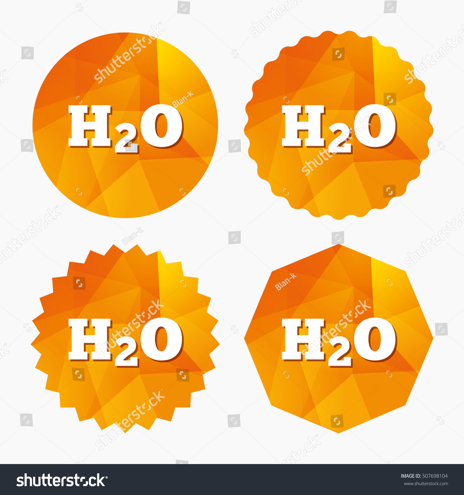 H 2 O Water Formula Sign Icon Chemistry Stock Vector 507698104