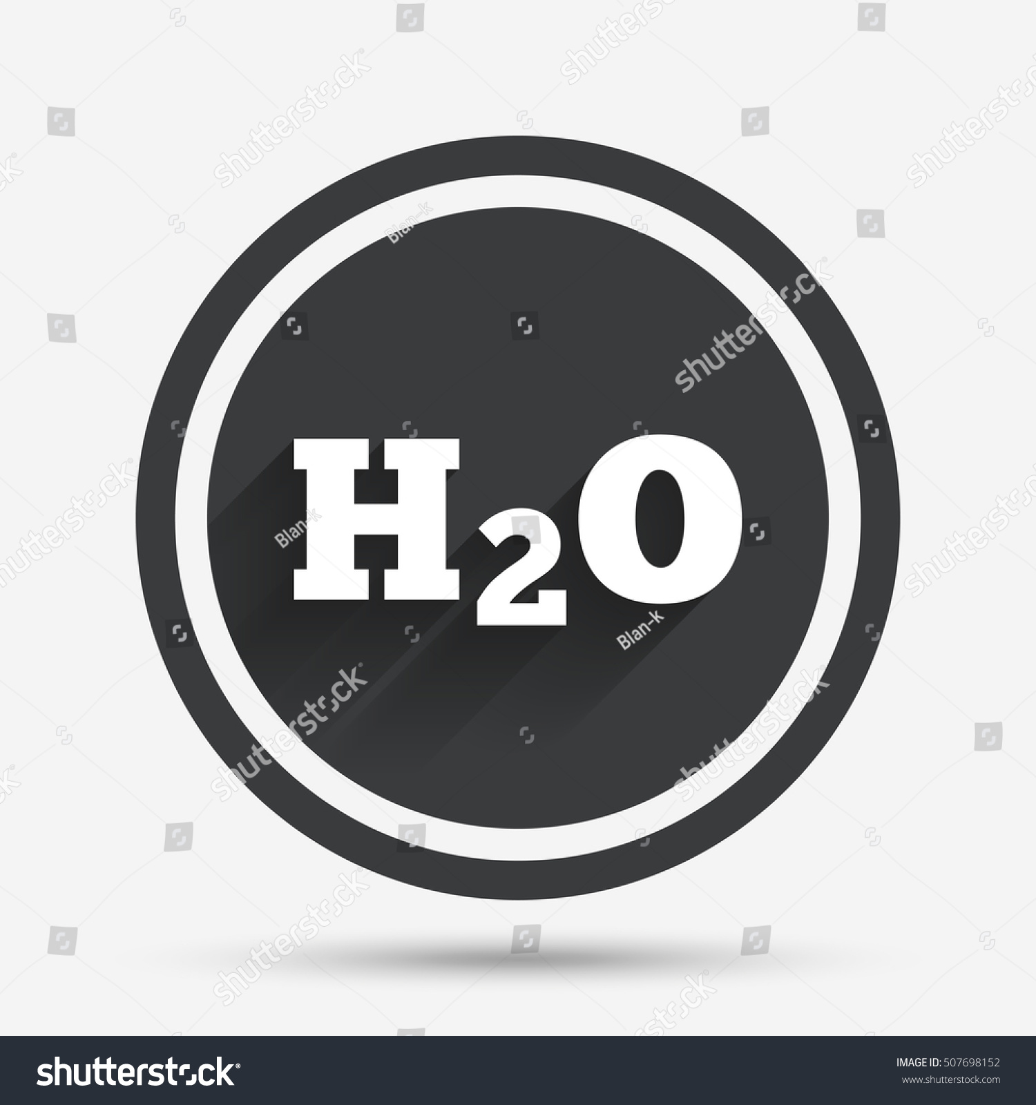 H 2 O Water Formula Sign Icon Chemistry Stock Vector Royalty Free