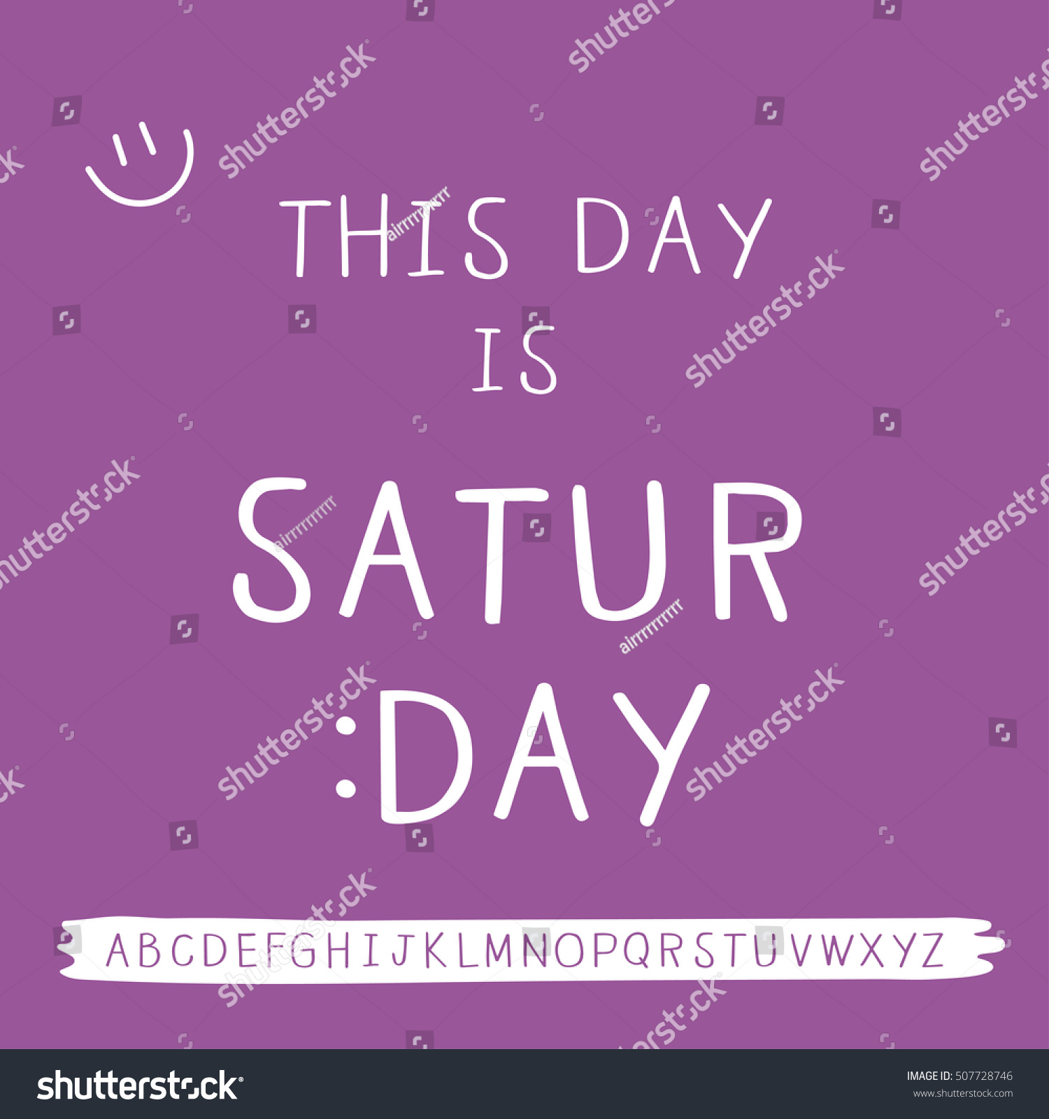 Saturday Quotes Saturday Quotes Freehand Font Stock Vector 507728746  Shutterstock