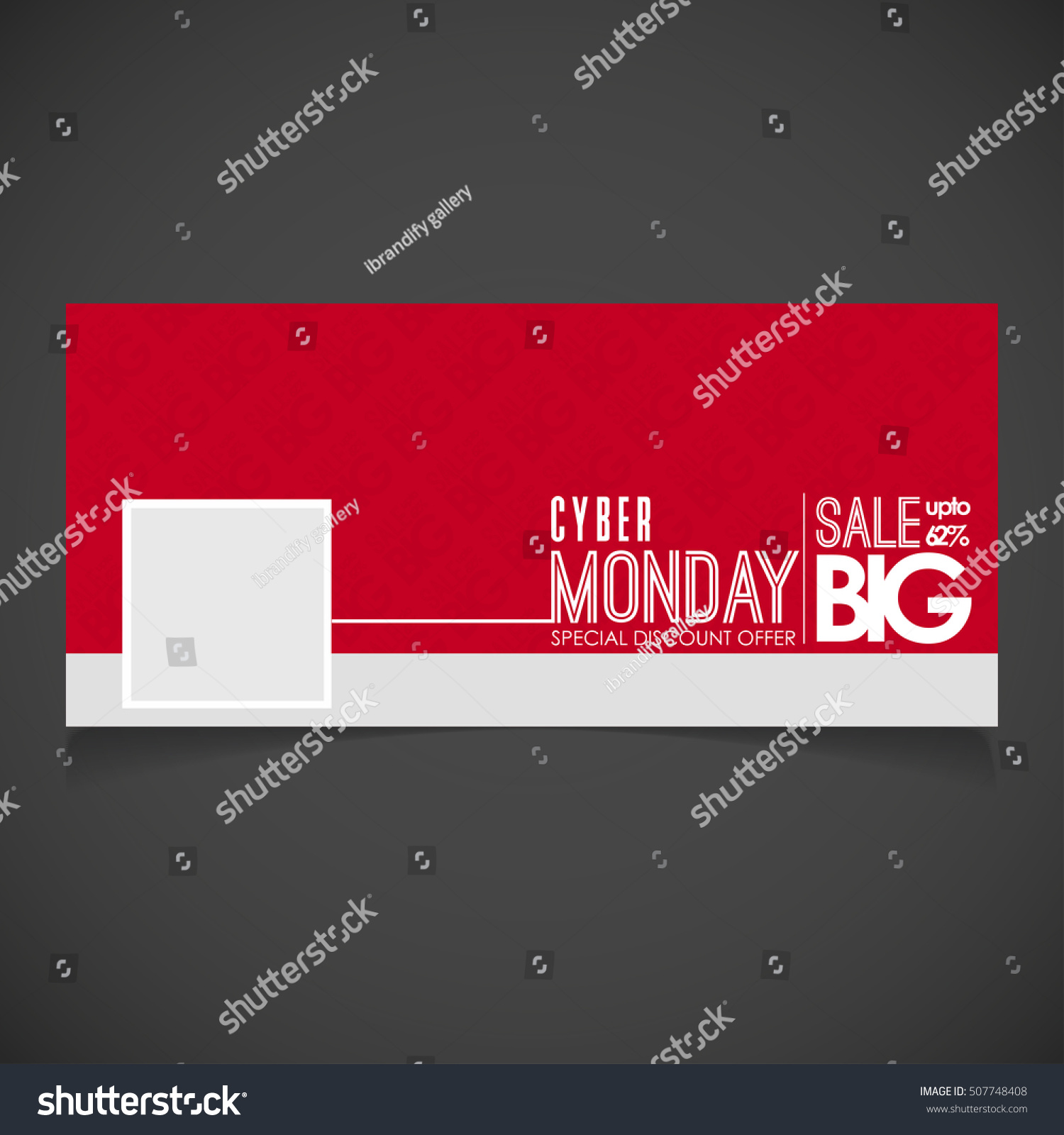 Creative Cyber Monday Banner Template Place Stock Vector Royalty