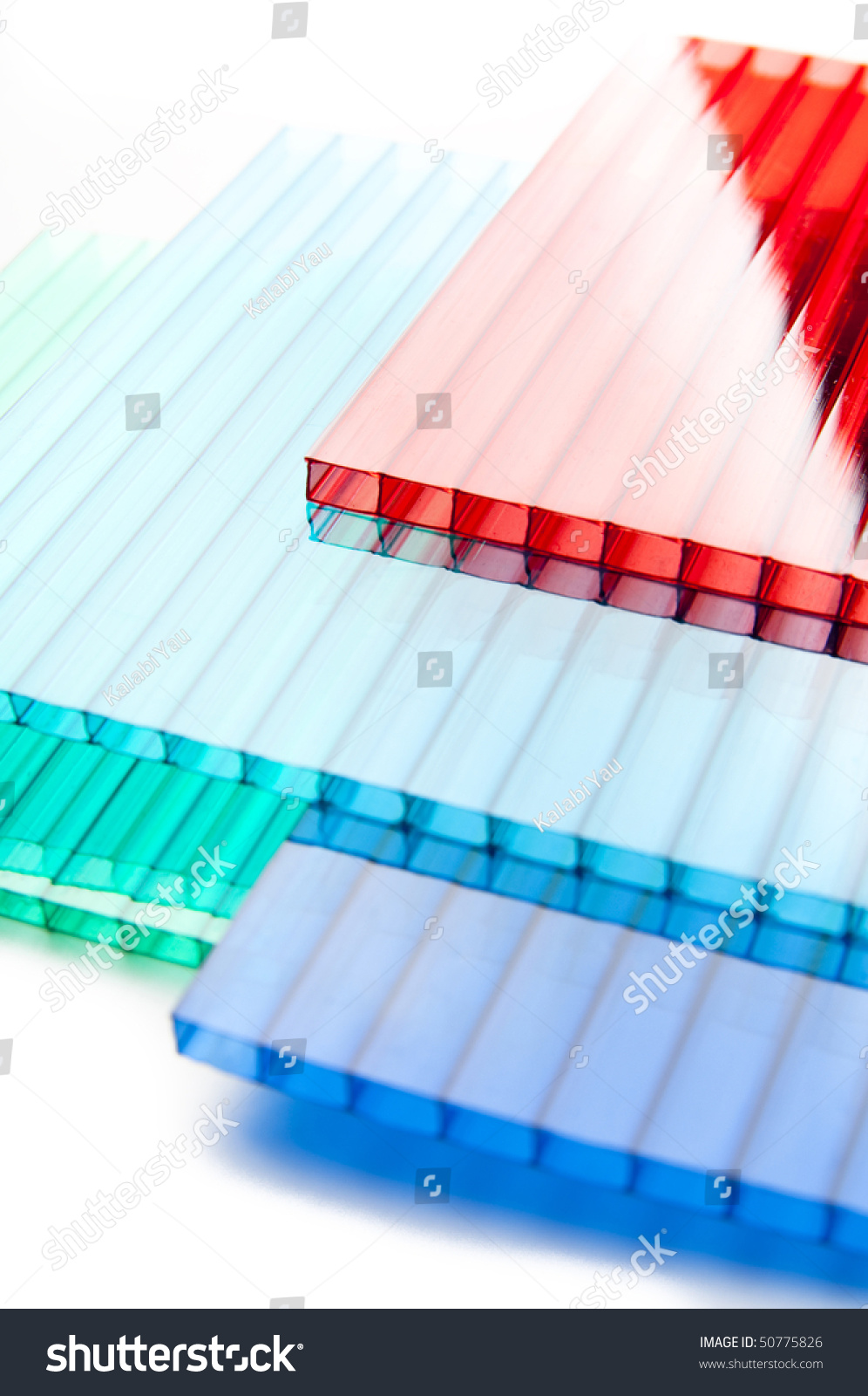 Color Polycarbonate Sheets Stock Photo (Royalty Free) 50775826 ...