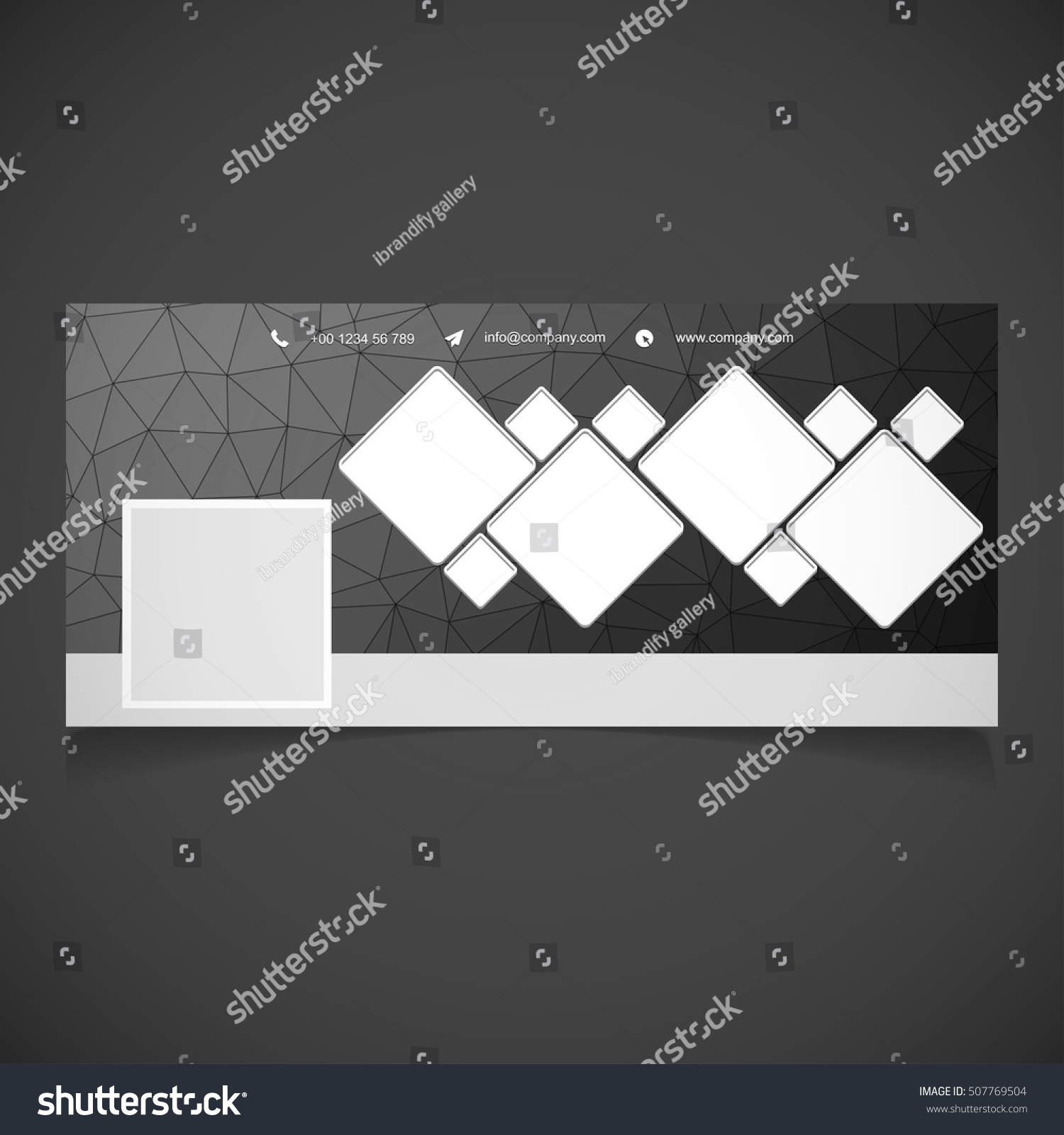Creative Black Background Photography Banner Template Stock Vector