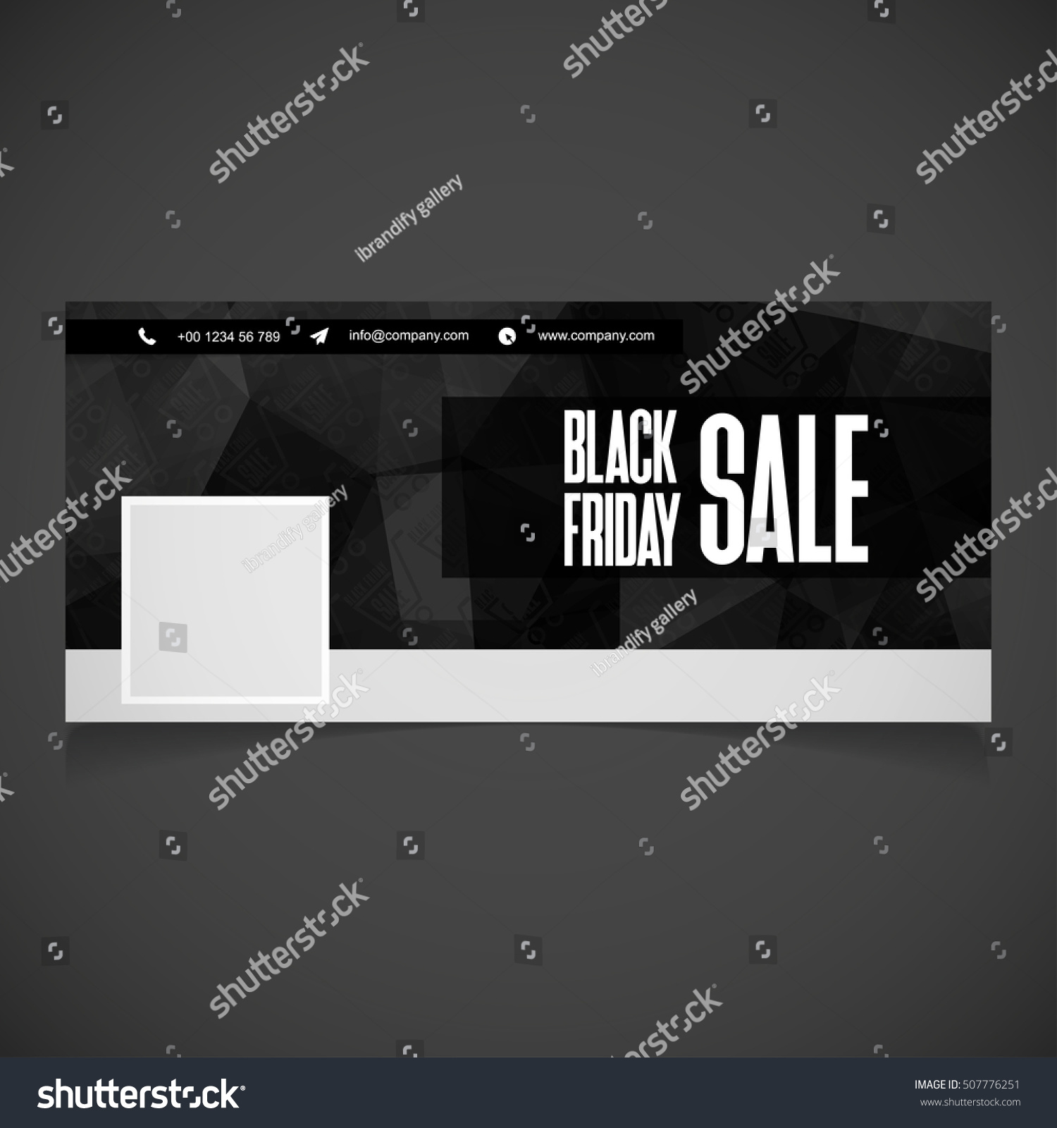 Creative Black Friday Banner Template Place Stock Vector Royalty